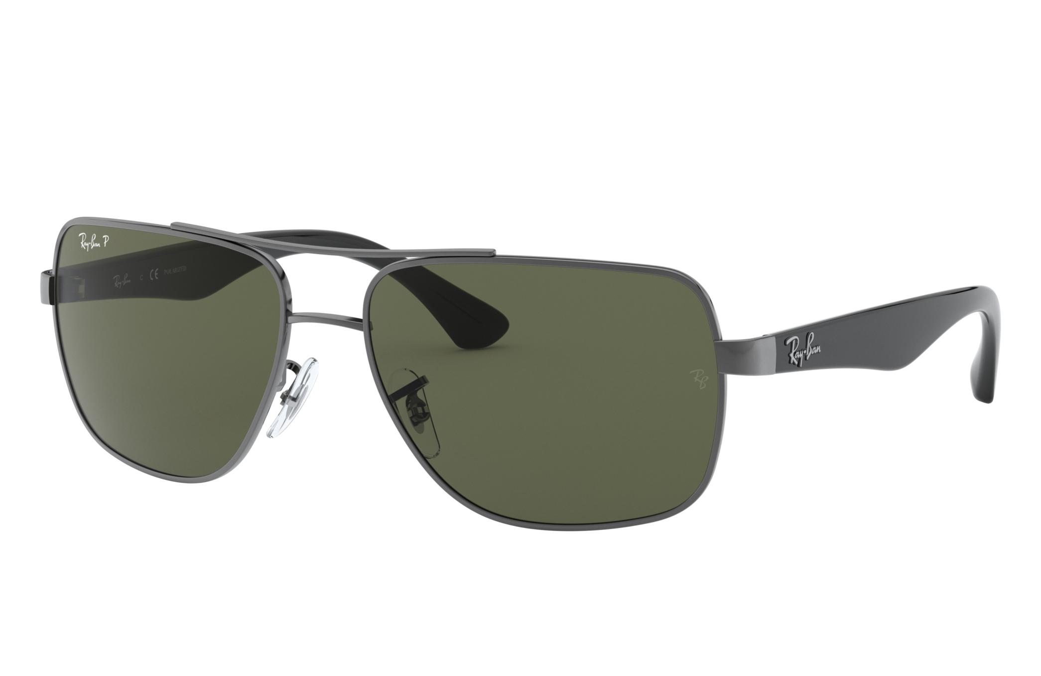 Ray-Ban Rb3483 Black, Polarized Green Lenses - RB3483