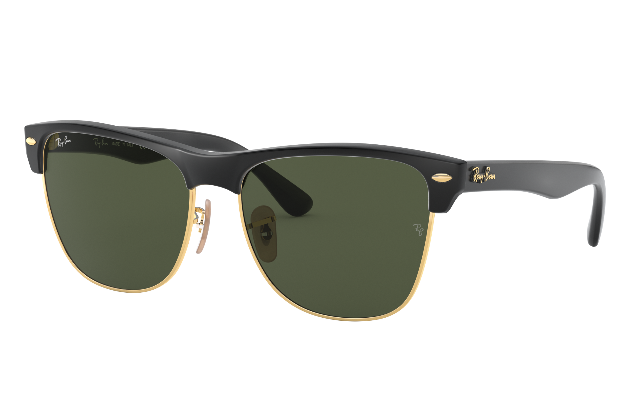 Ray-Ban Clubmaster Oversized Black, Green Lenses - RB4175
