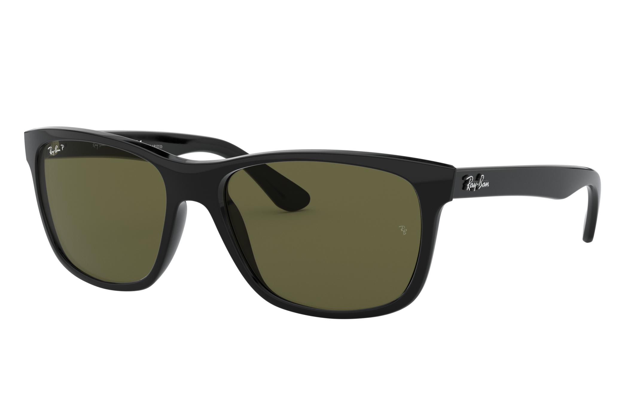 Ray-Ban Rb4181 Black, Polarized Green Lenses - RB4181