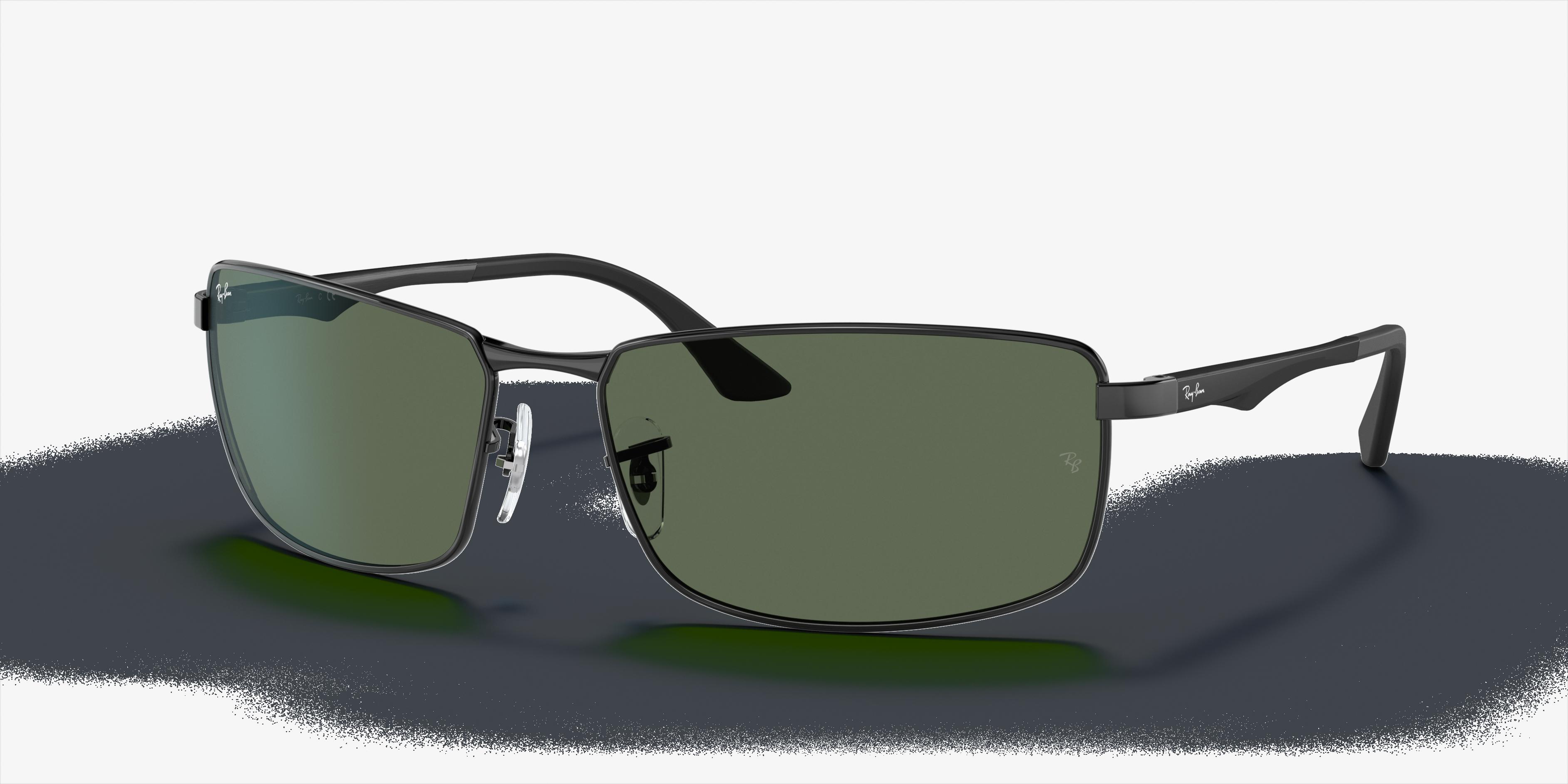 Ray-Ban Rb3498 Black, Green Lenses - RB3498