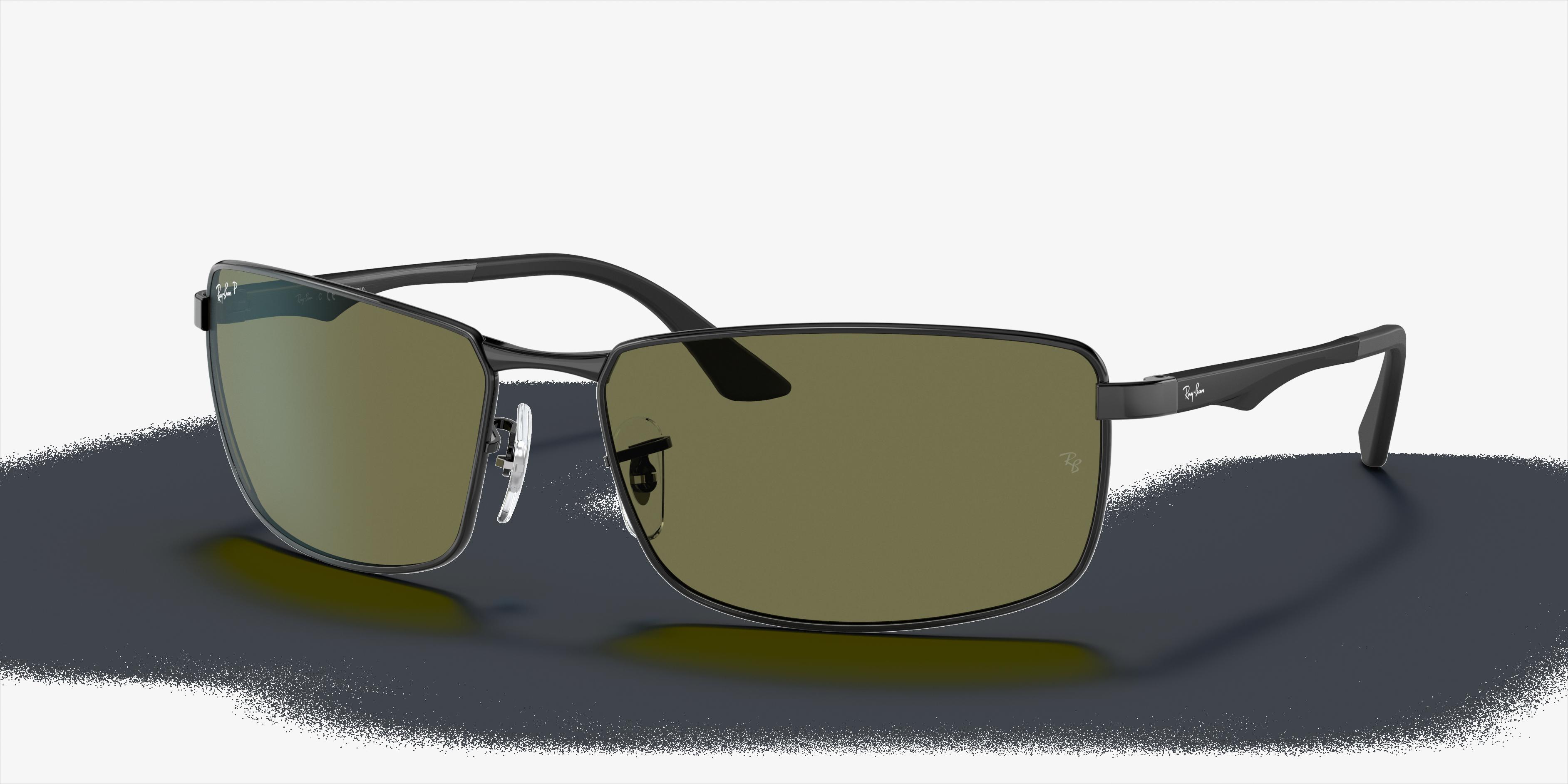 Ray-Ban Rb3498 Black, Polarized Green Lenses - RB3498