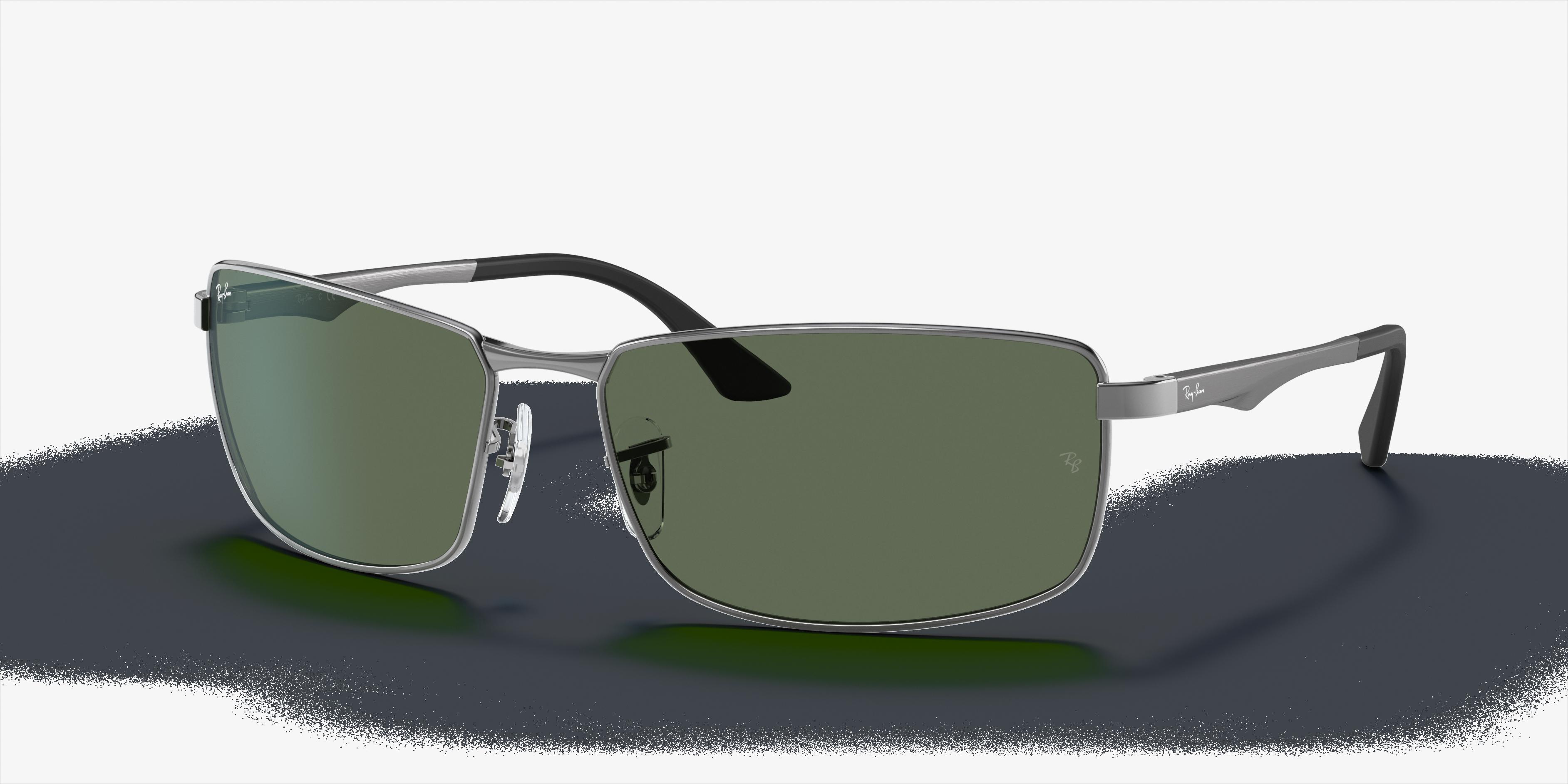 Ray-Ban Rb3498 Gunmetal, Green Lenses - RB3498