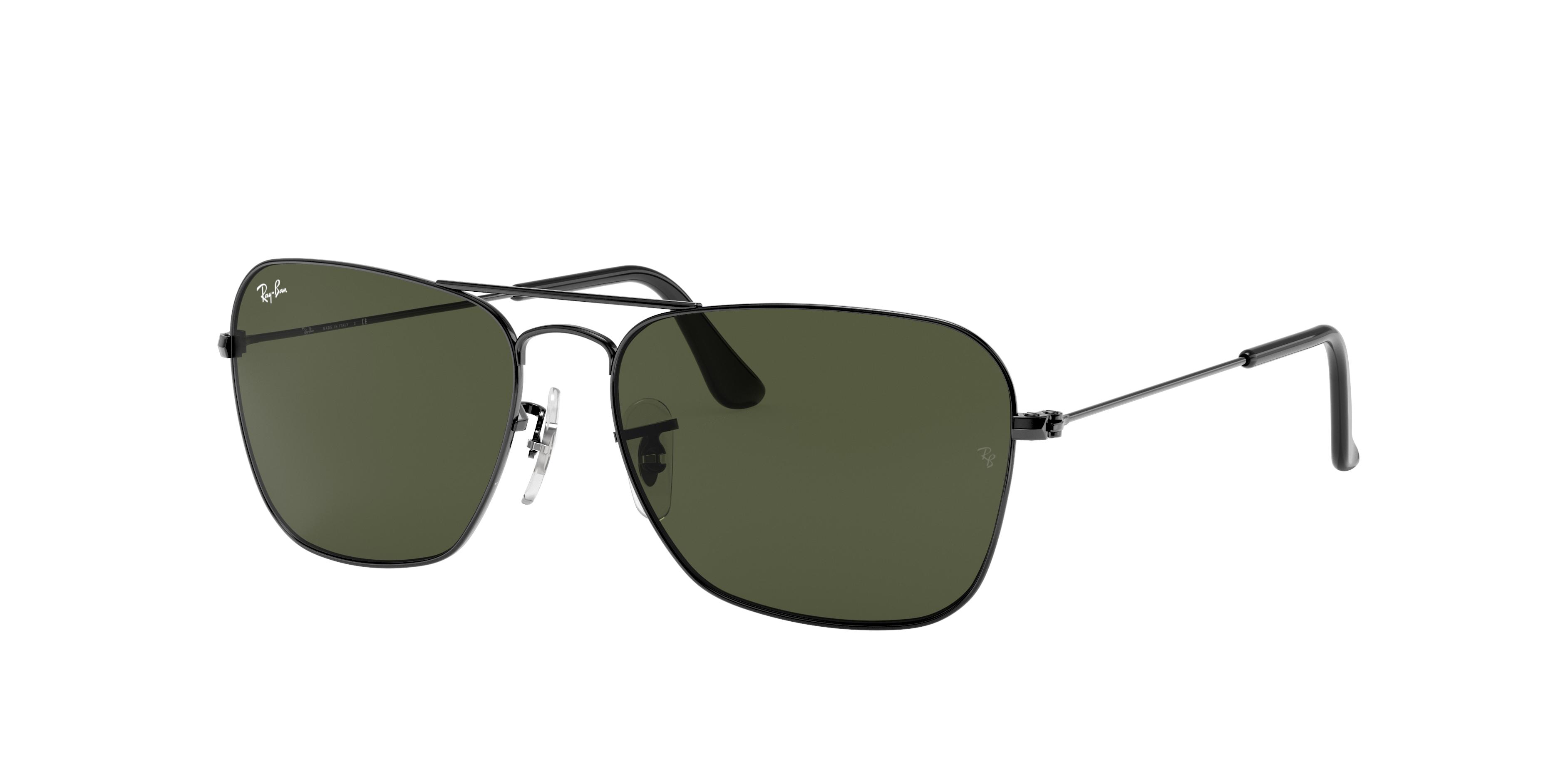 Ray-Ban Caravan Gunmetal, Green Lenses - RB3136