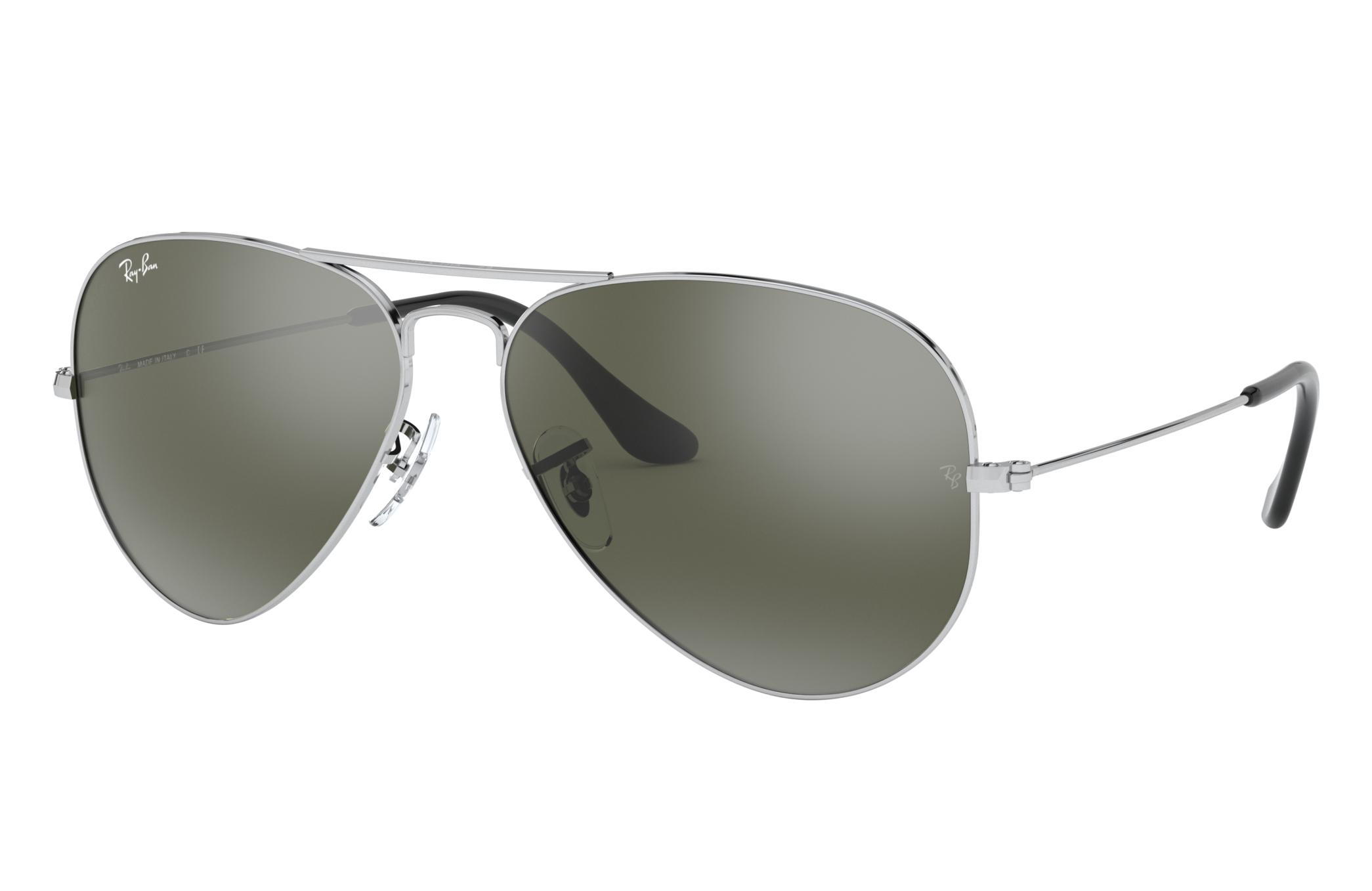 Ray-Ban Aviator Mirror Silver, Gray Lenses - RB3025
