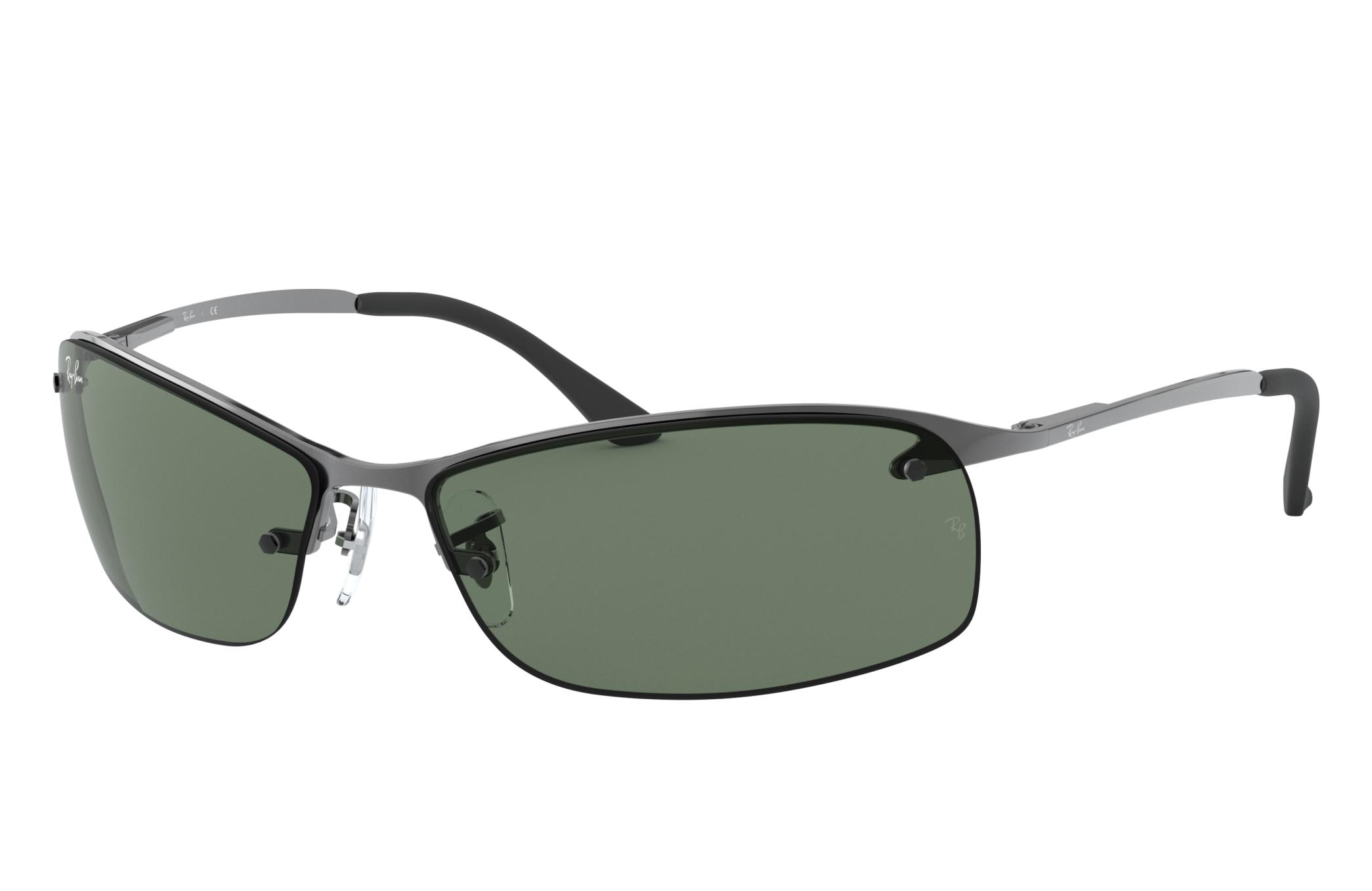 Ray-Ban Rb3183 Gunmetal, Green Lenses - RB3183