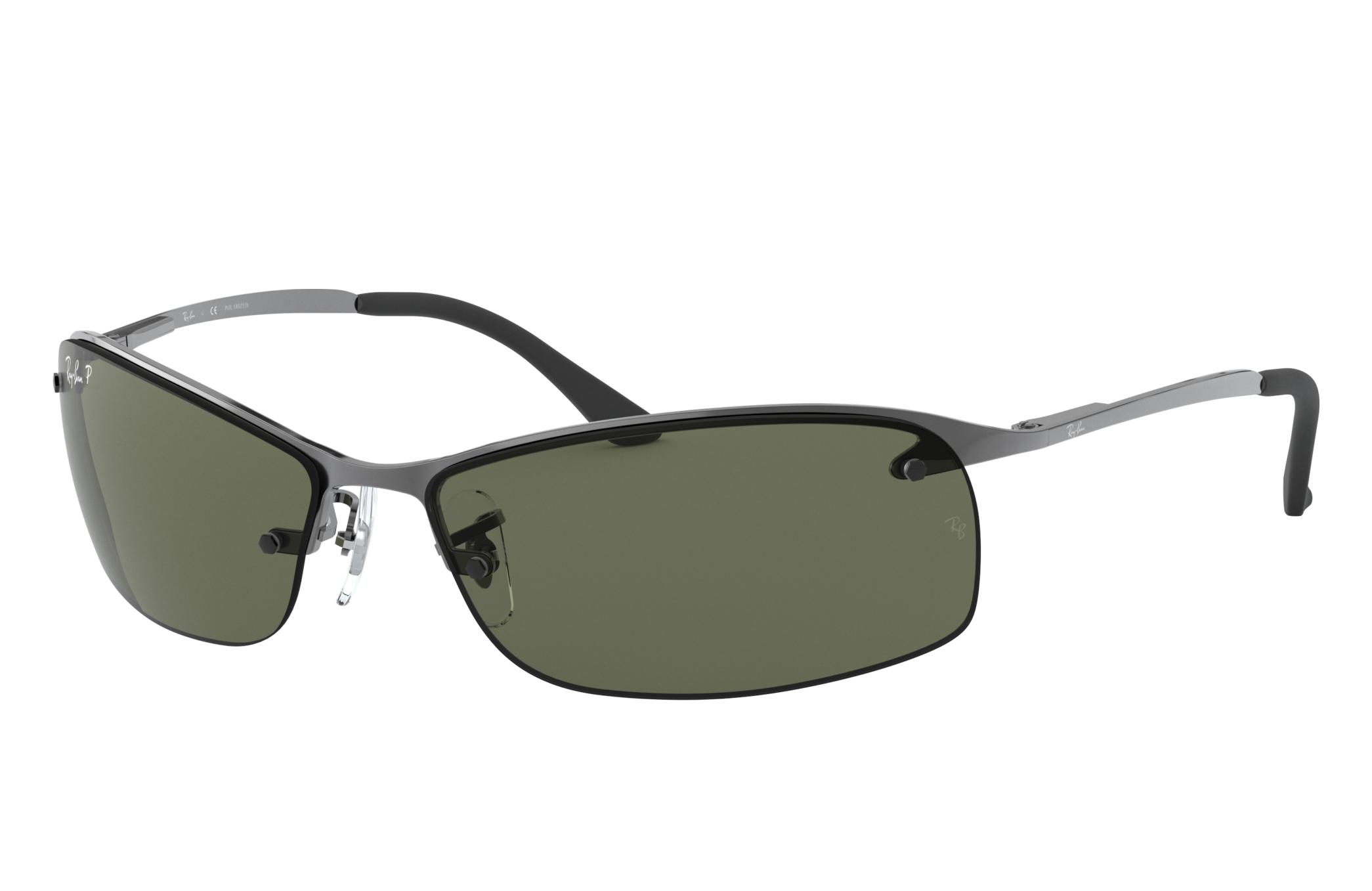 Ray-Ban Rb3183 Gunmetal, Polarized Green Lenses - RB3183