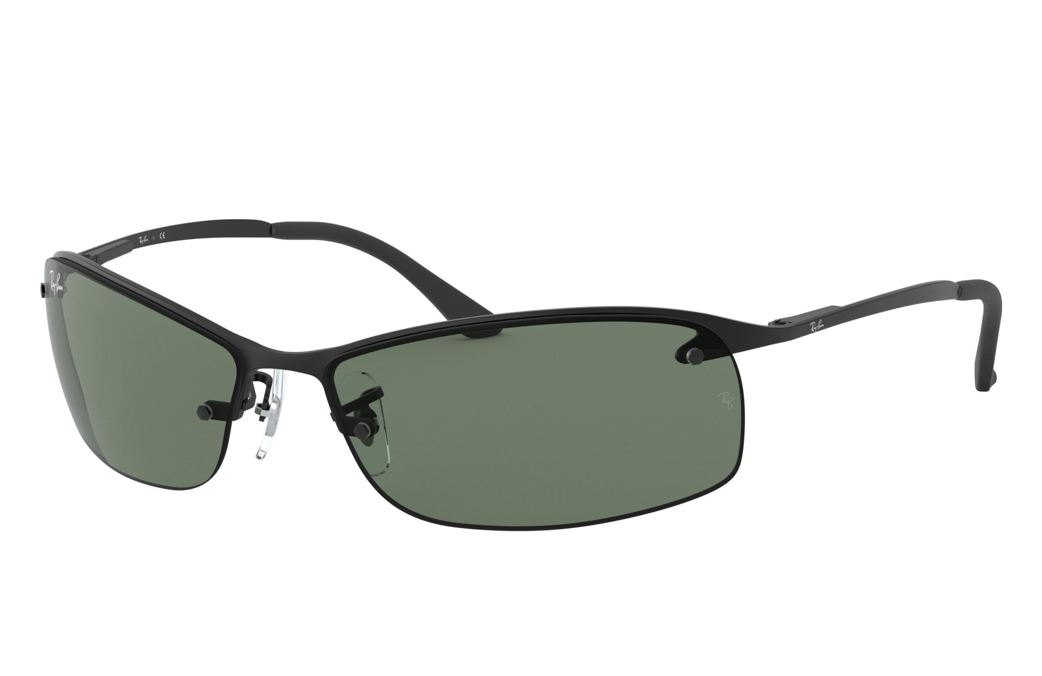 Ray-Ban Rb3183 Black, Green Lenses - RB3183