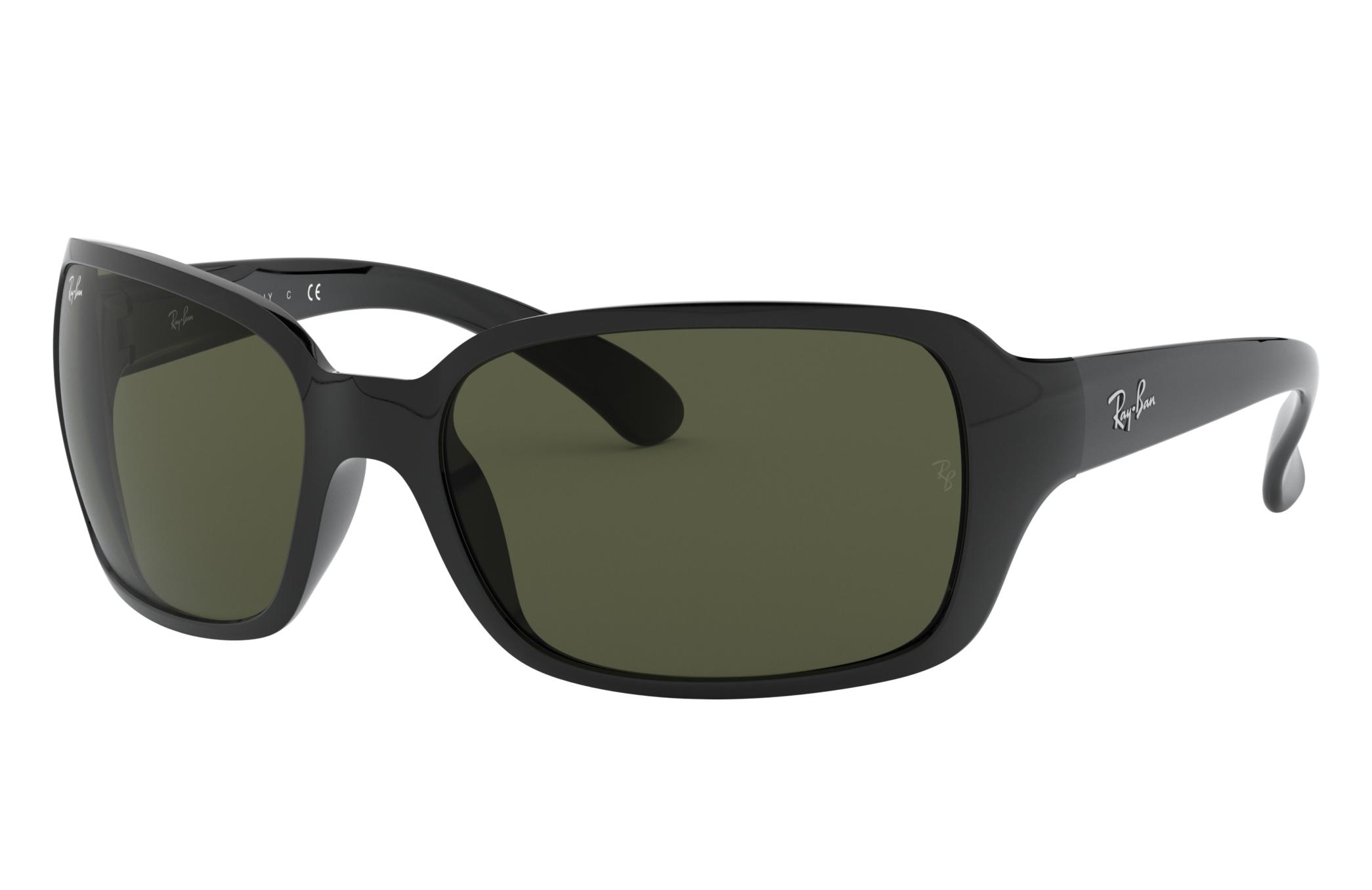 Ray-Ban Rb4068 Black, Green Lenses - RB4068