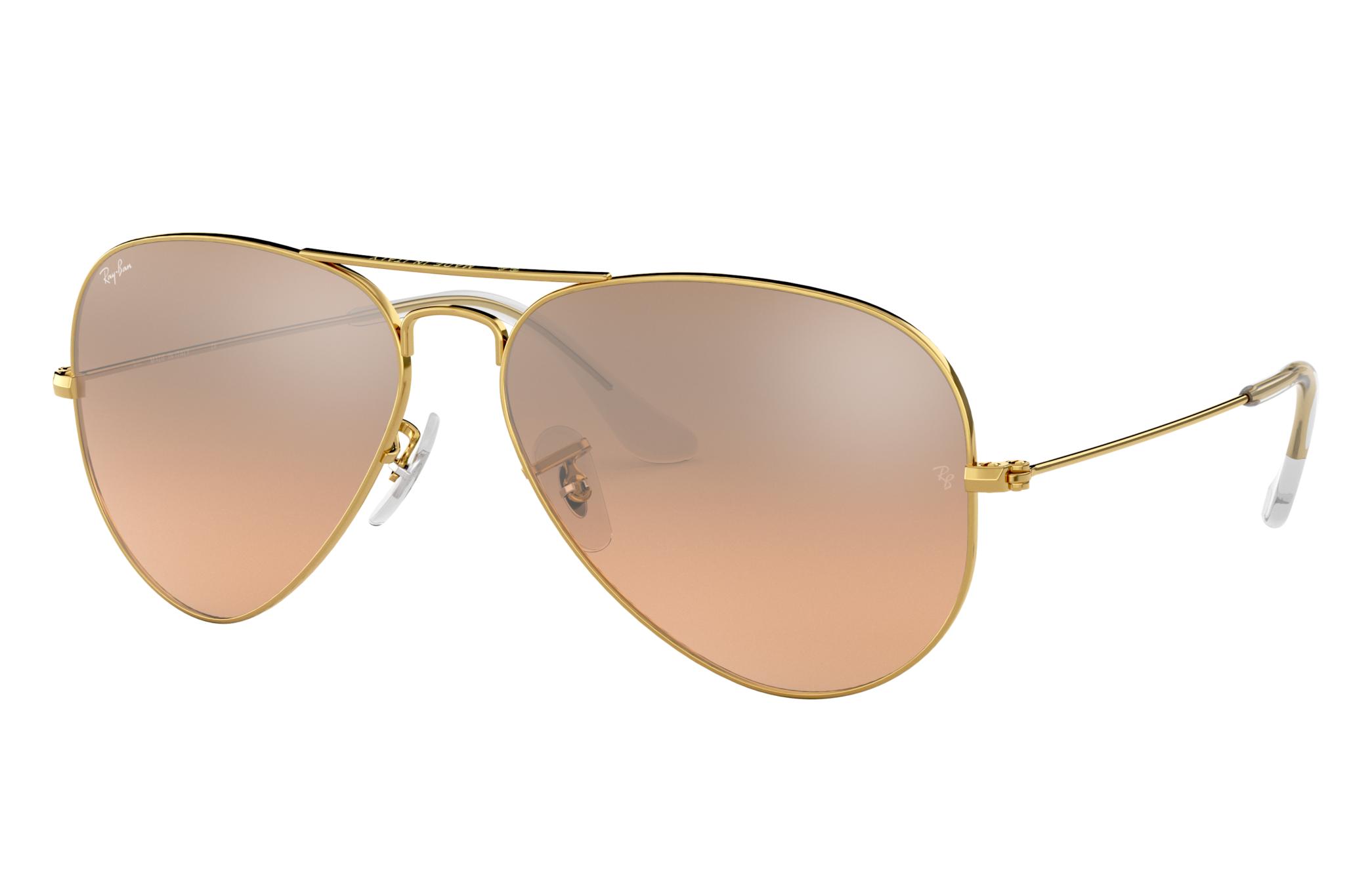 Ray-Ban Aviator Gradient Gold, Gray Lenses - RB3025