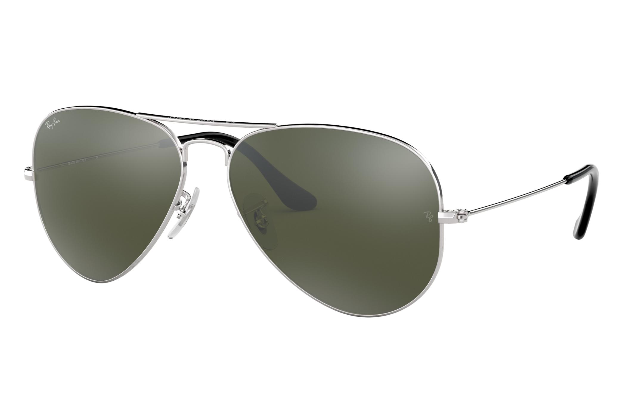 Ray-Ban Aviator Mirror Silver, Grey Lenses - RB3025
