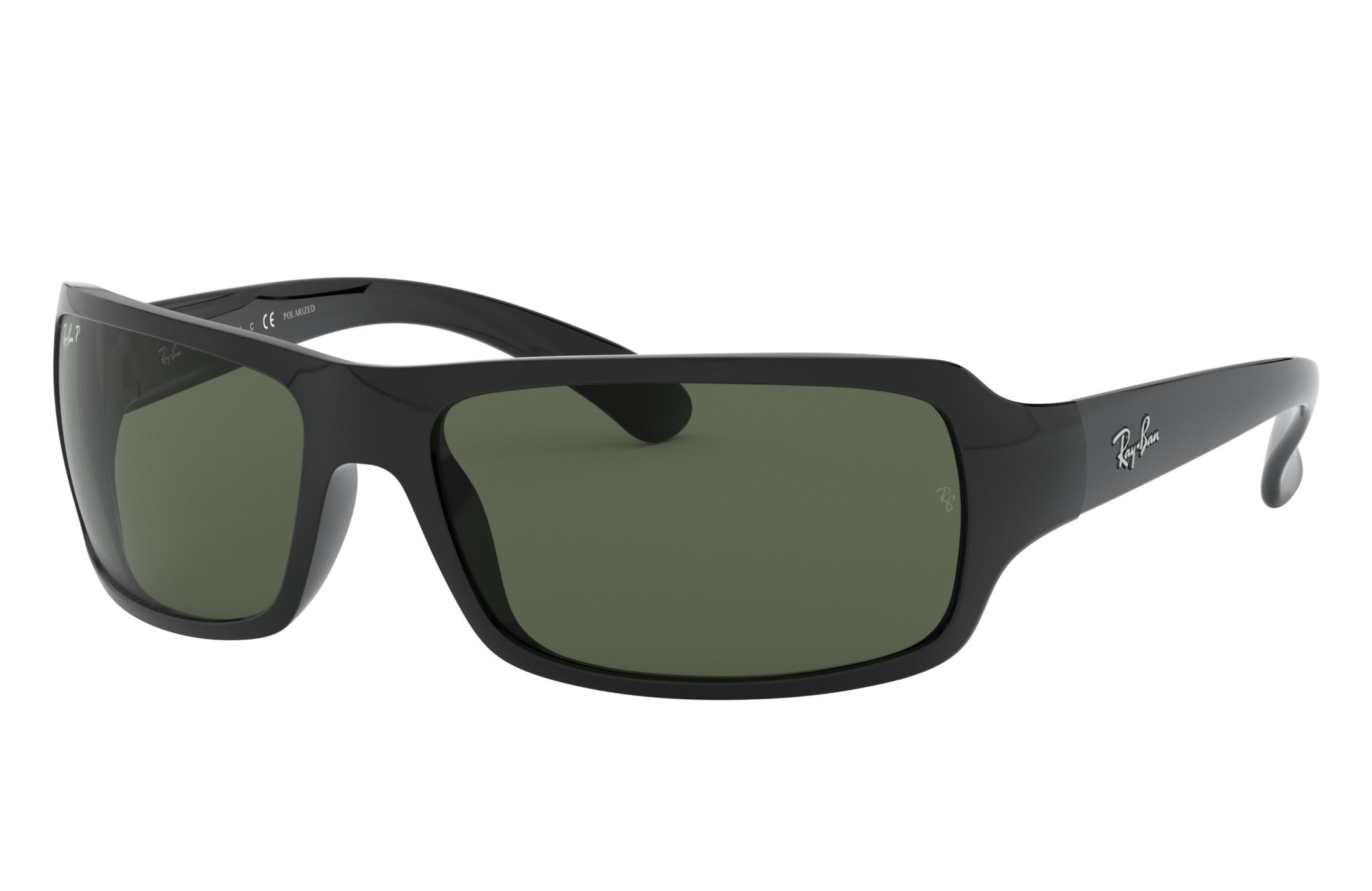 Ray-Ban Rb4075 Black, Polarized Green Lenses - RB4075