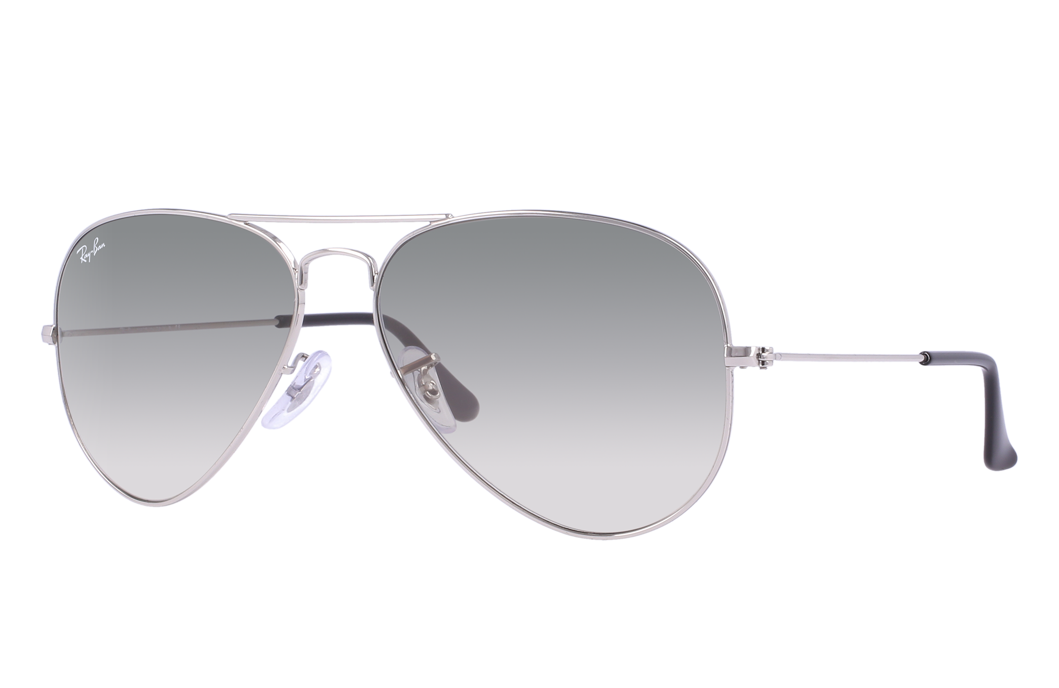 Ray-Ban Aviator Gradient Silver, Gray Lenses - RB3025