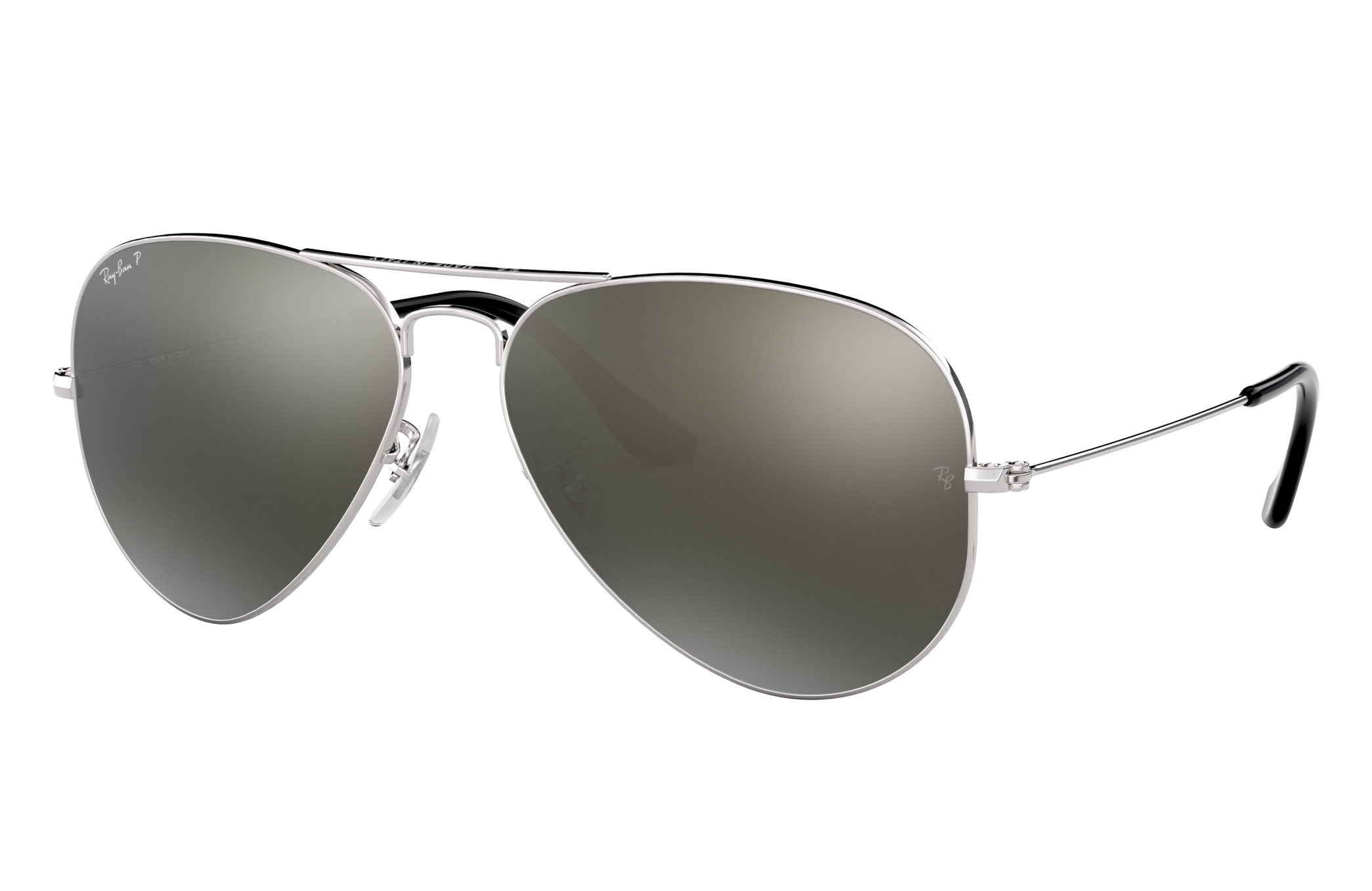 Ray-Ban Aviator Classic Silver, Polarized Gray Lenses - RB3025