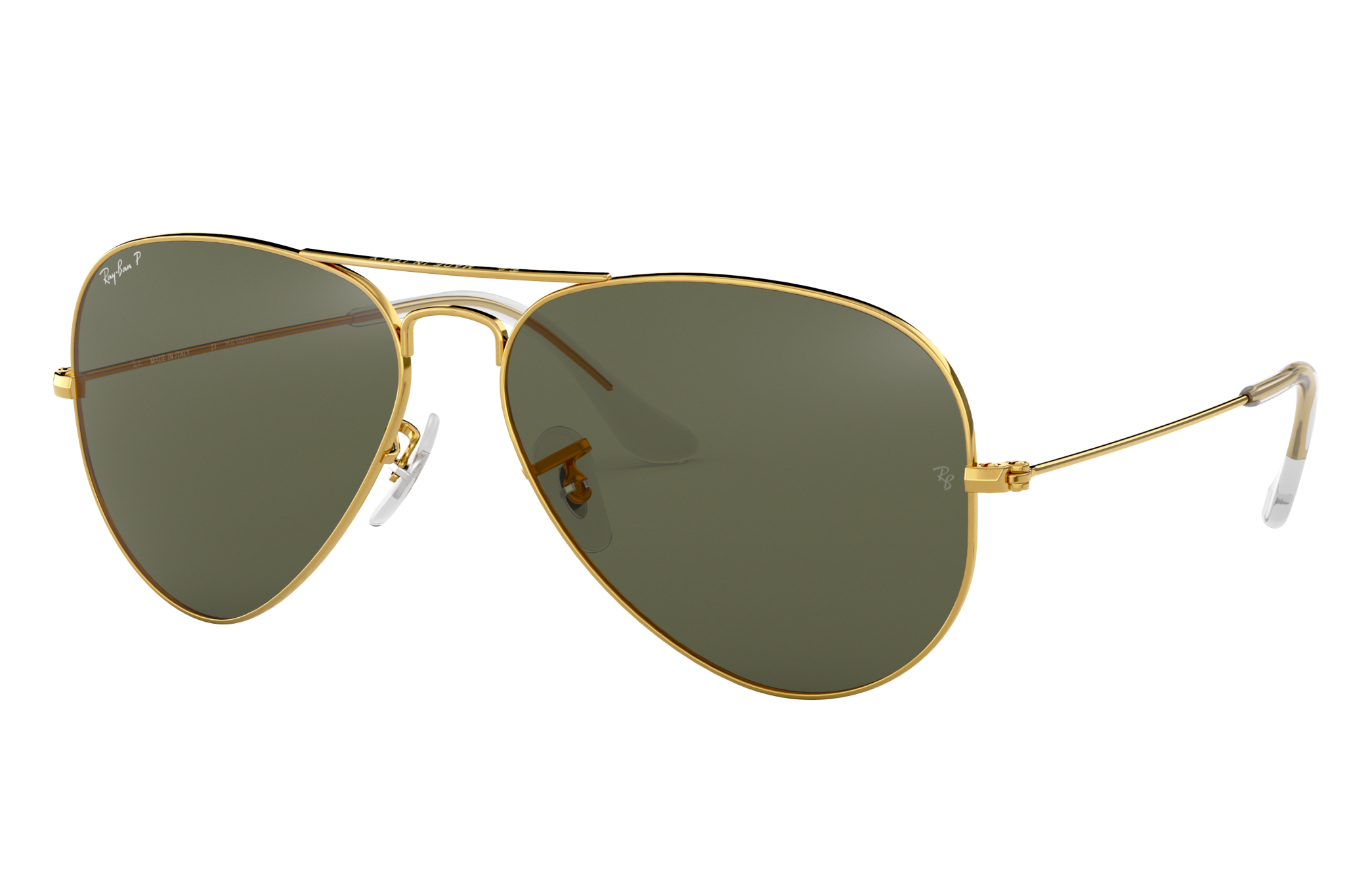 Ray-Ban Aviator Classic Gold, Polarized Green Lenses - RB3025