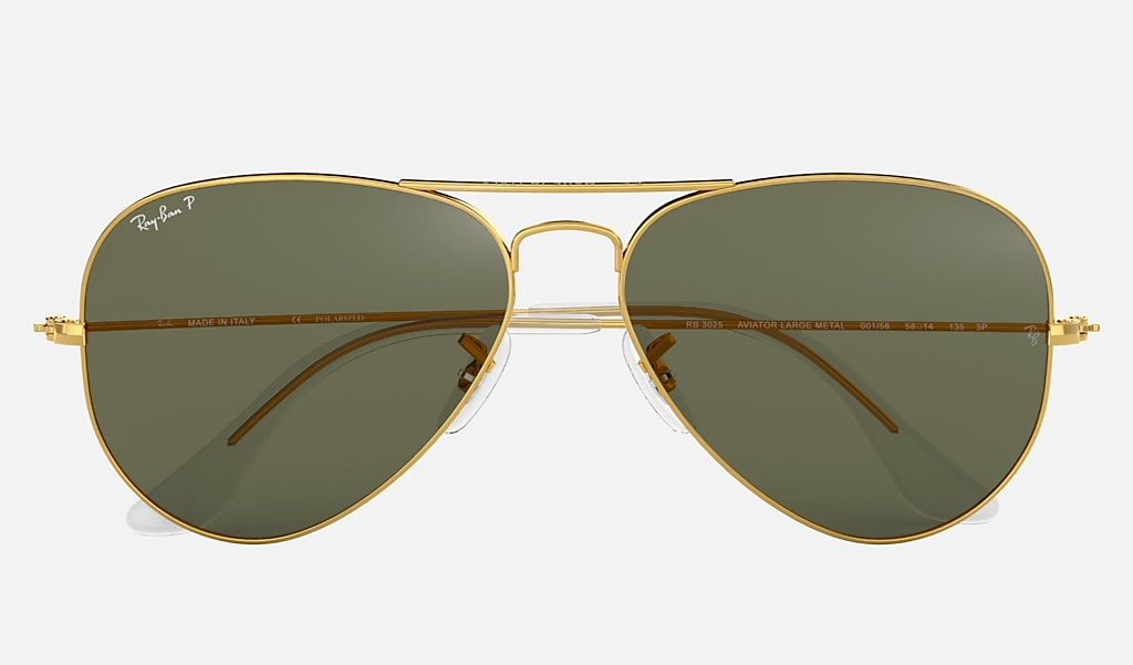 Ray Ban Aviator Classic Rb3025 Gold Metal Green Polarized Lenses 0rb3025001 5858 Ray Ban Usa