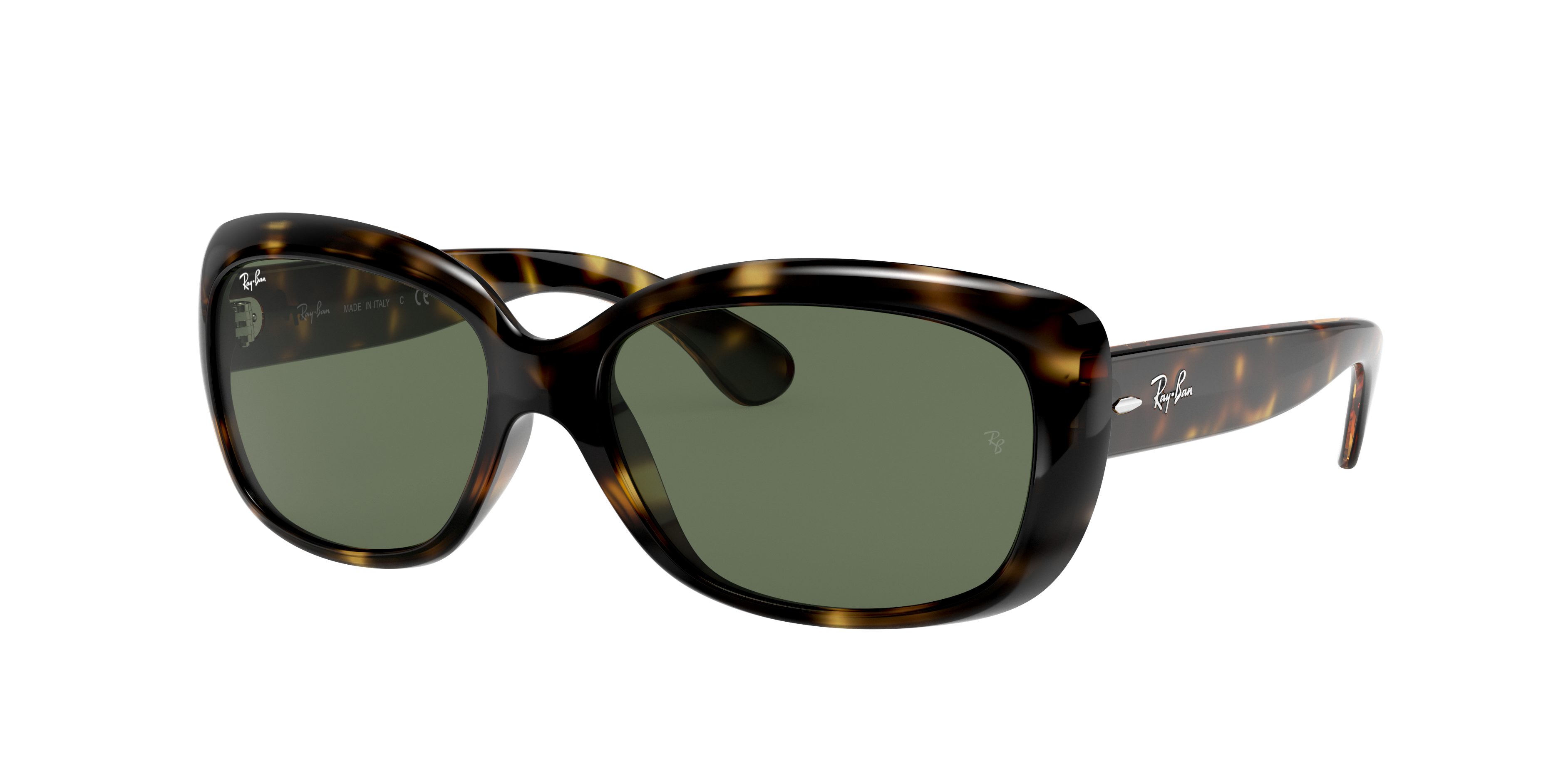 Ray-Ban Jackie Ohh Tortoise, Green Lenses - RB4101