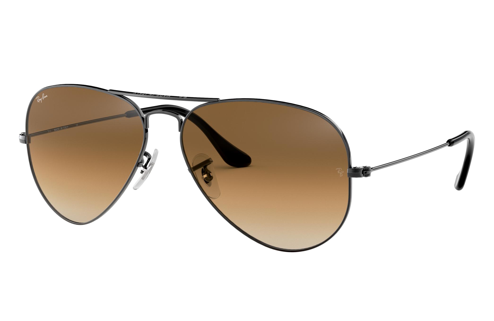 Ray-Ban Aviator Gradient Gunmetal, Brown Lenses - RB3025