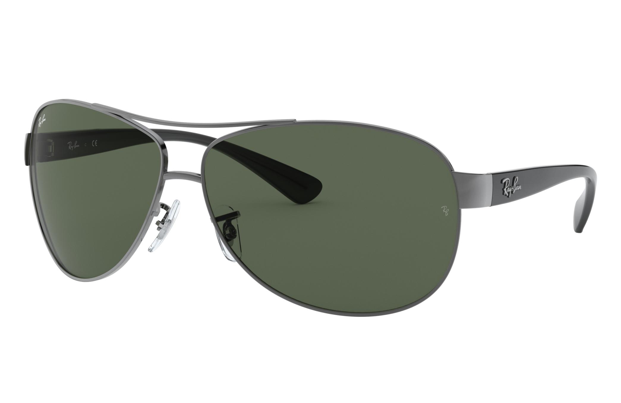 Ray-Ban Rb3386 Black, Green Lenses - RB3386