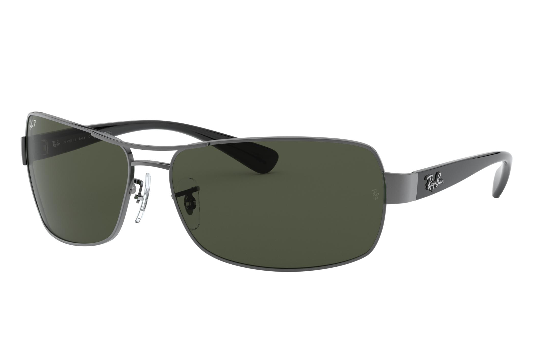 Ray-Ban Rb3379 Black, Polarized Green Lenses - RB3379