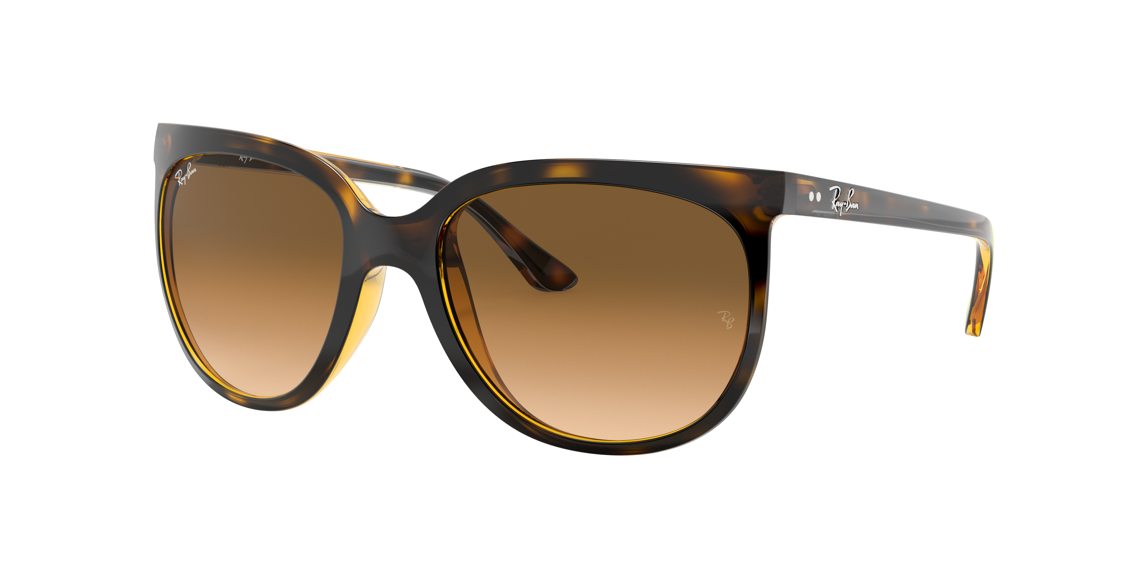 Ray-Ban Cats 1000 Tortoise, Brown Lenses - RB4126