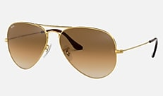 RB3025 001/51 58-14 AVIATOR GRADIENT Gold Light Brown Gradient