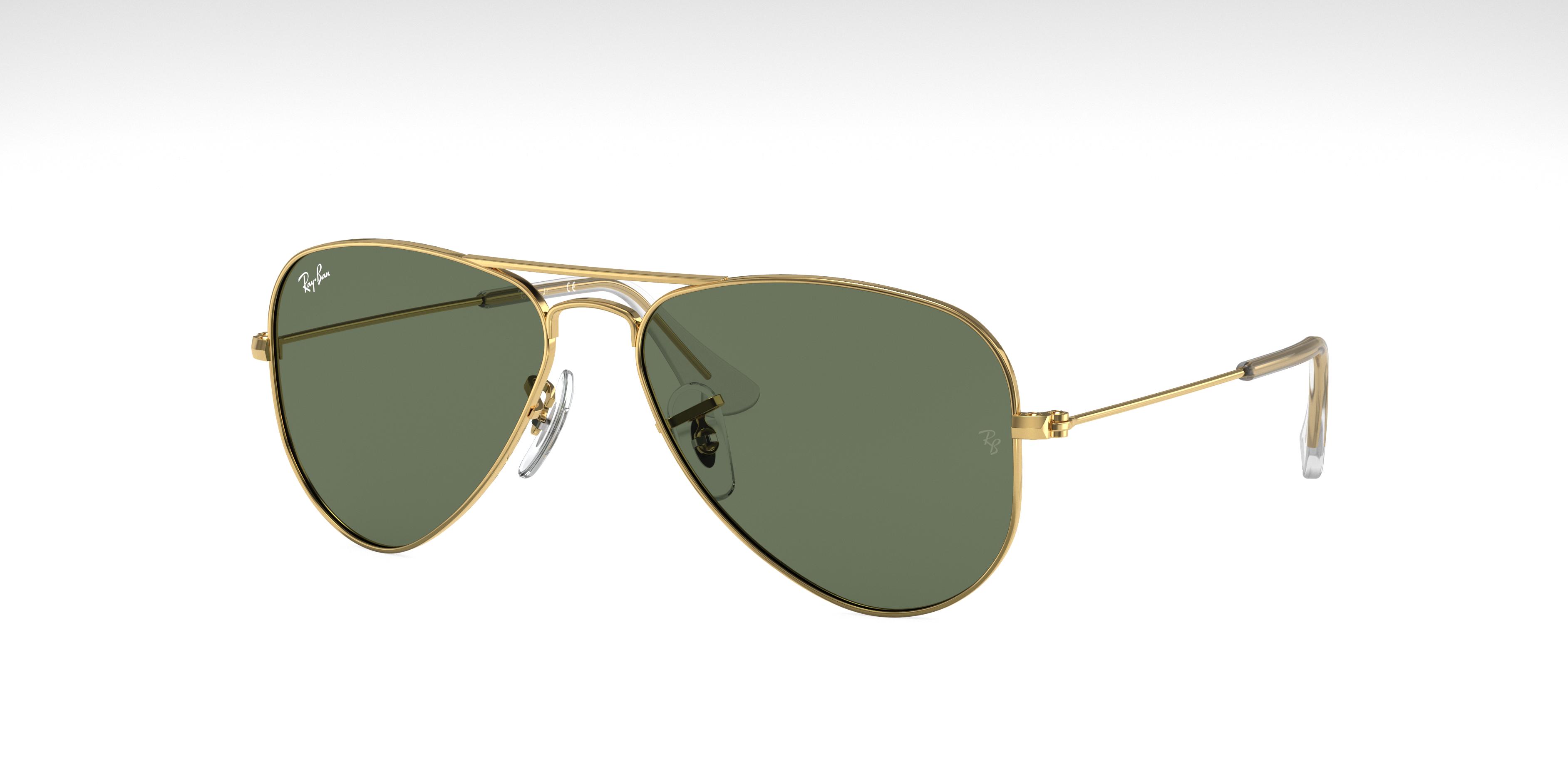 Ray-Ban Aviator Junior Gold, Green Lenses - RJ9506S