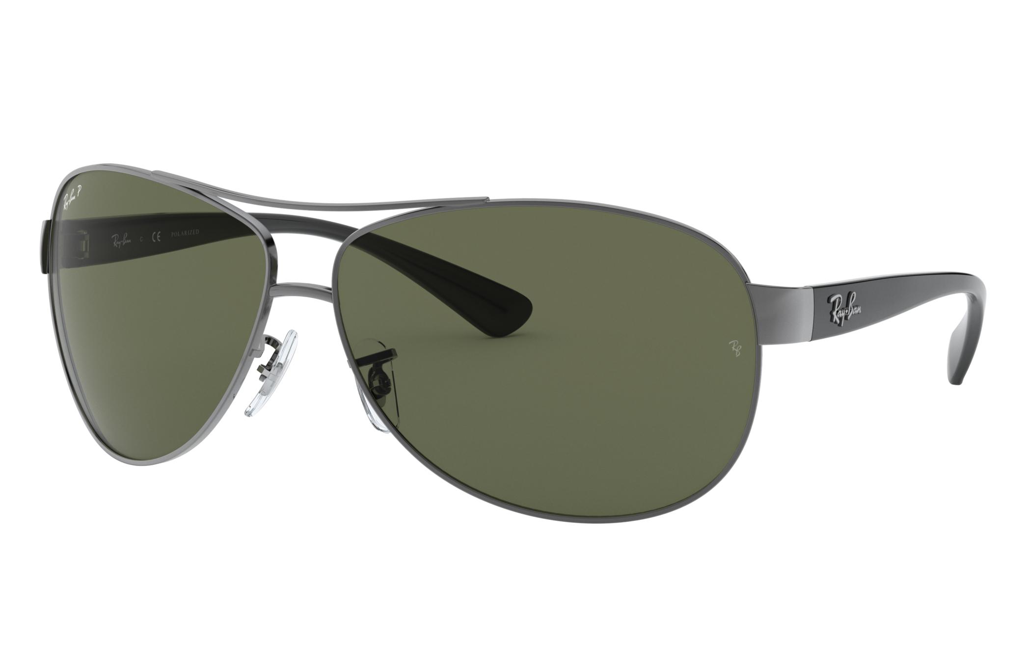 Ray-Ban Rb3386 Black, Polarized Green Lenses - RB3386