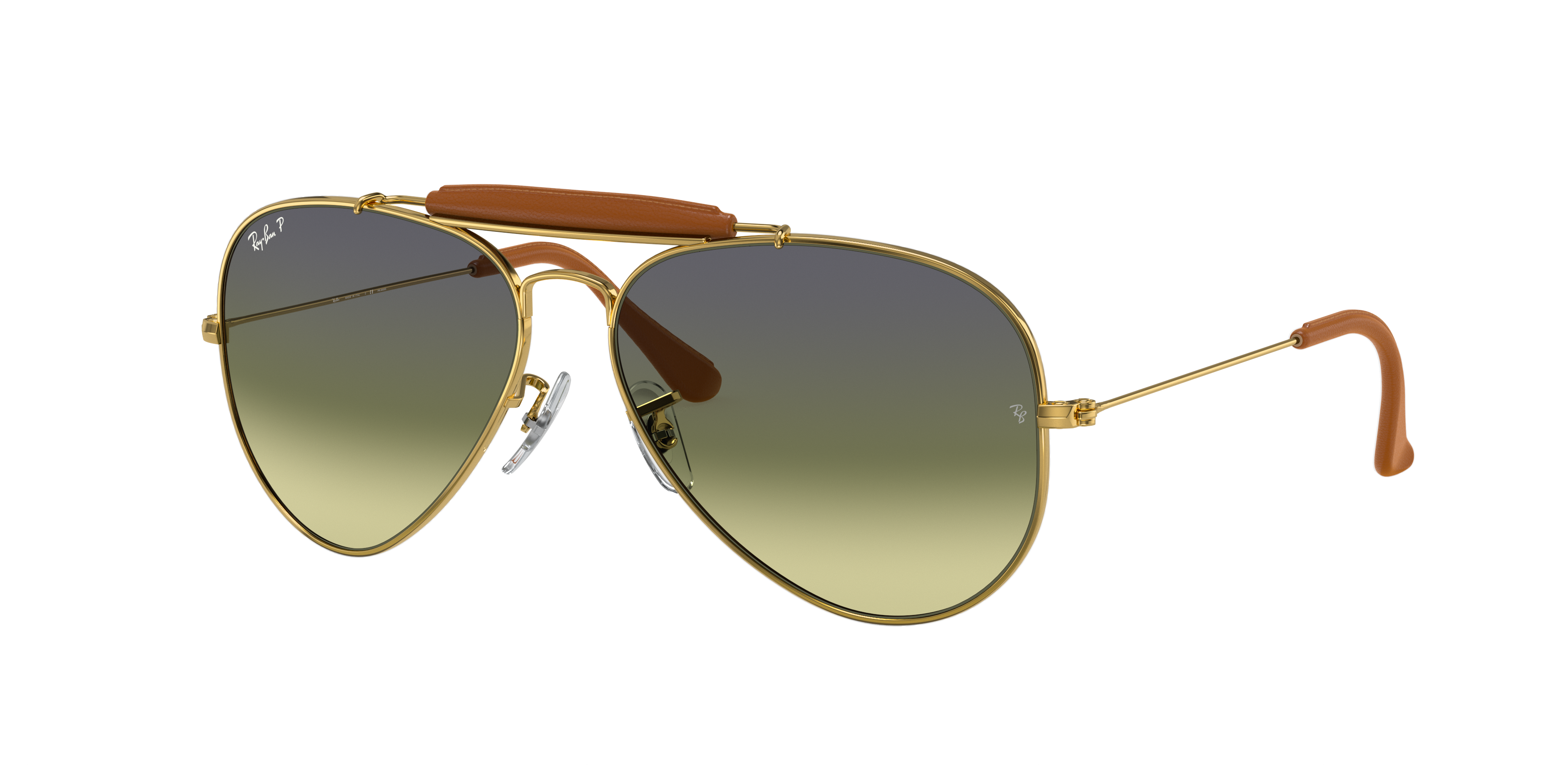 Ray-Ban Outdoorsman Craft Gold, Polarized Green Lenses - RB3422Q