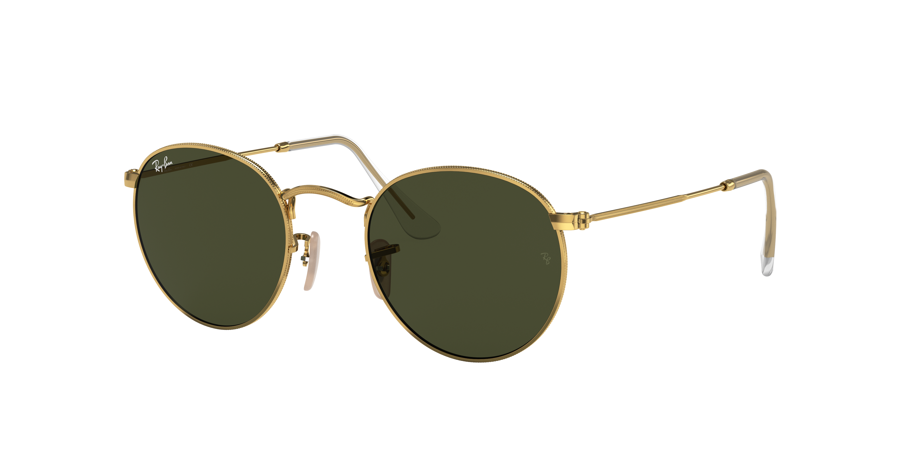Ray-Ban Round Metal Gold, Green Lenses - RB3447