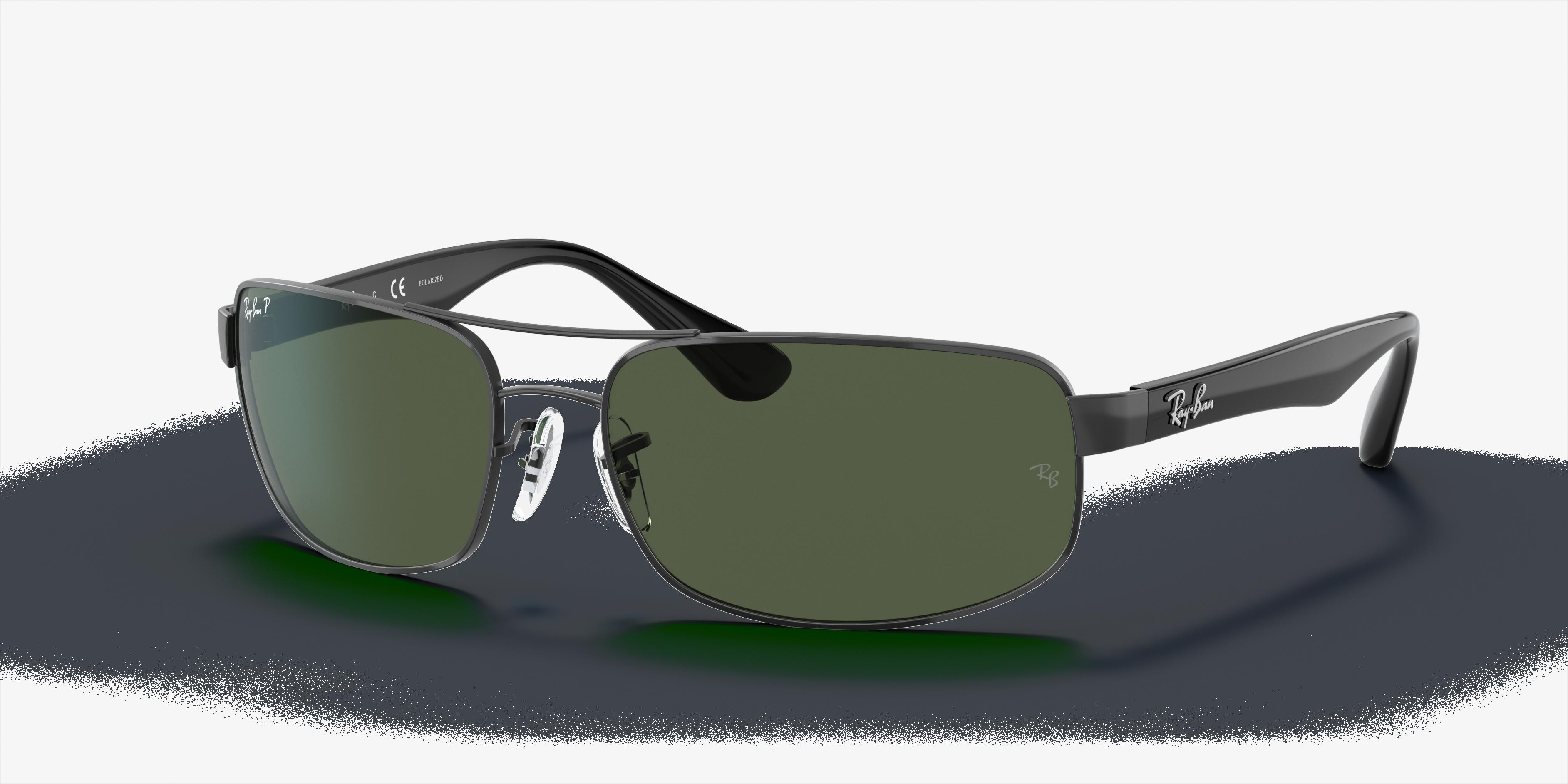 Ray-Ban Rb3445 Black, Polarized Green Lenses - RB3445