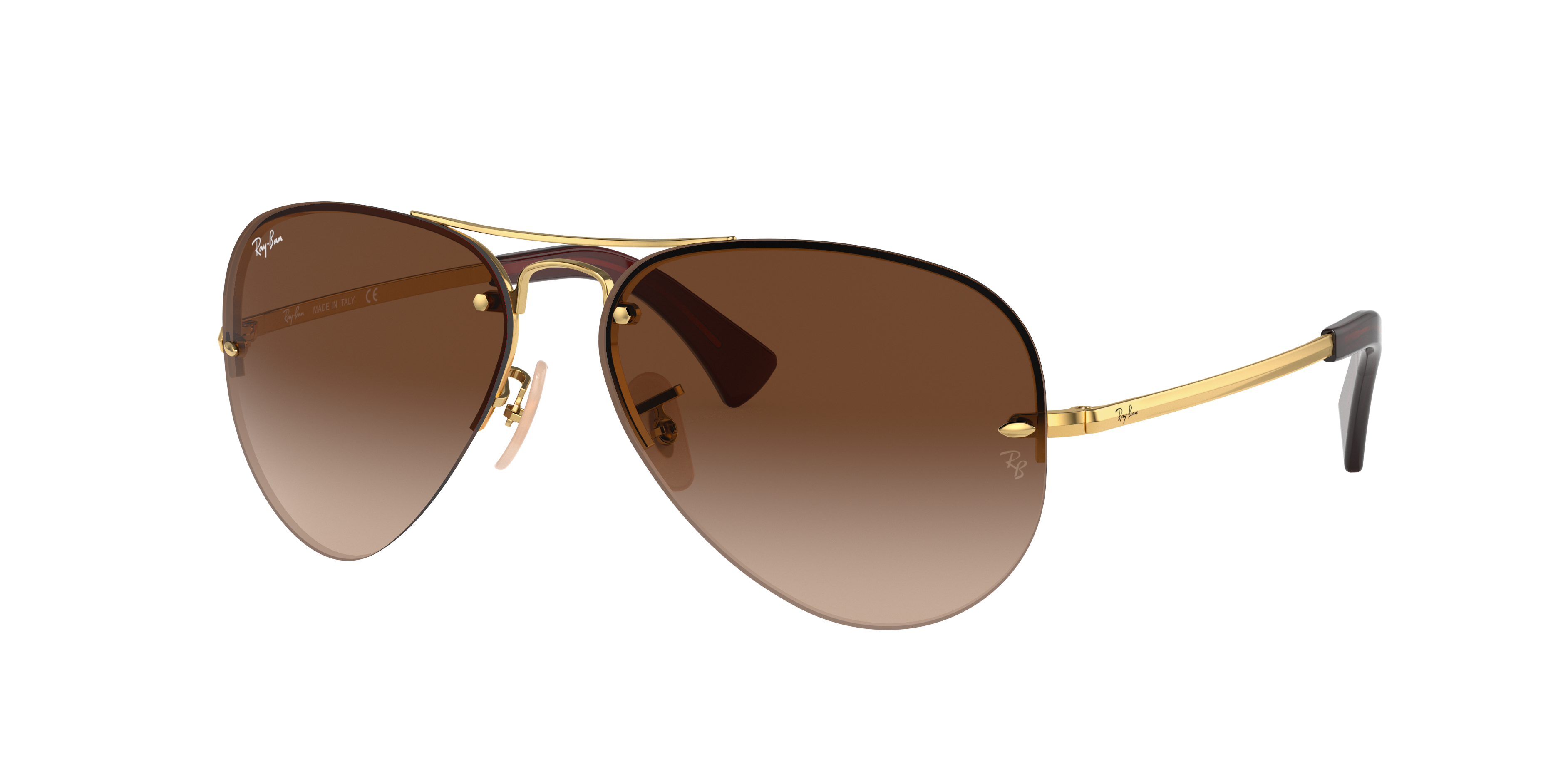 Ray-Ban Rb3449 Gold, Brown Lenses - RB3449
