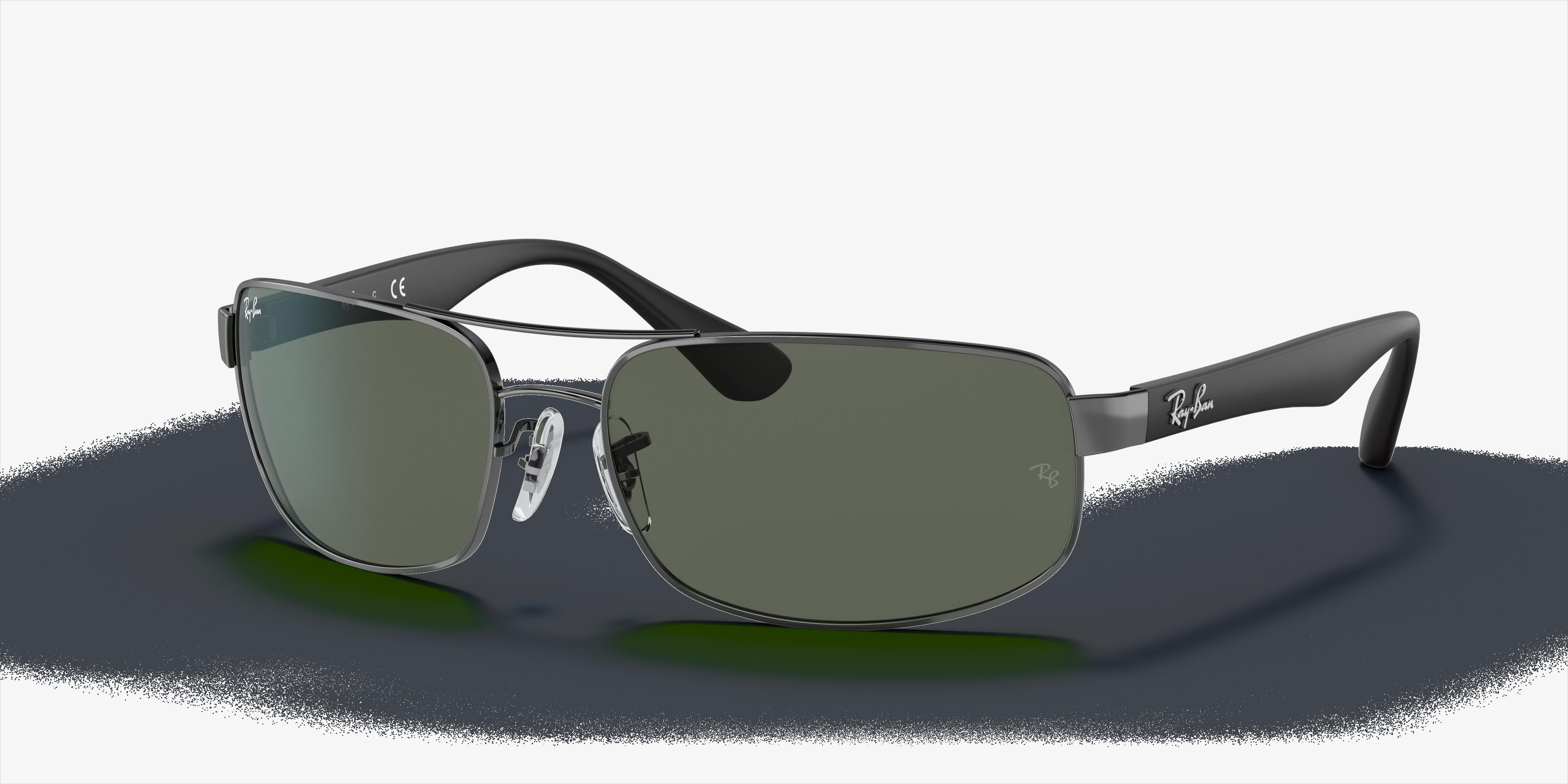 Ray-Ban Rb3445 Black, Green Lenses - RB3445