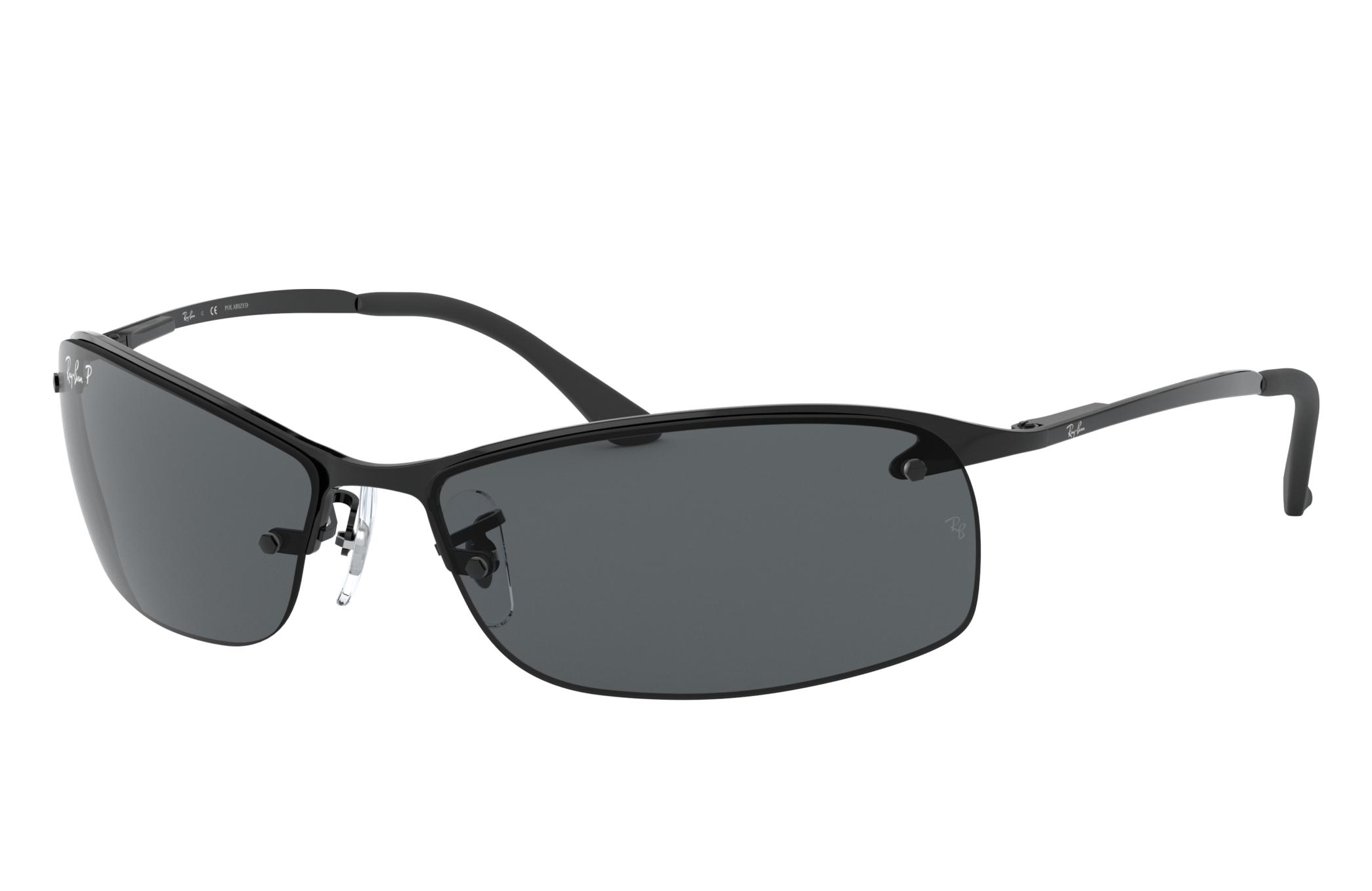 Ray-Ban Rb3183 Black, Polarized Gray Lenses - RB3183