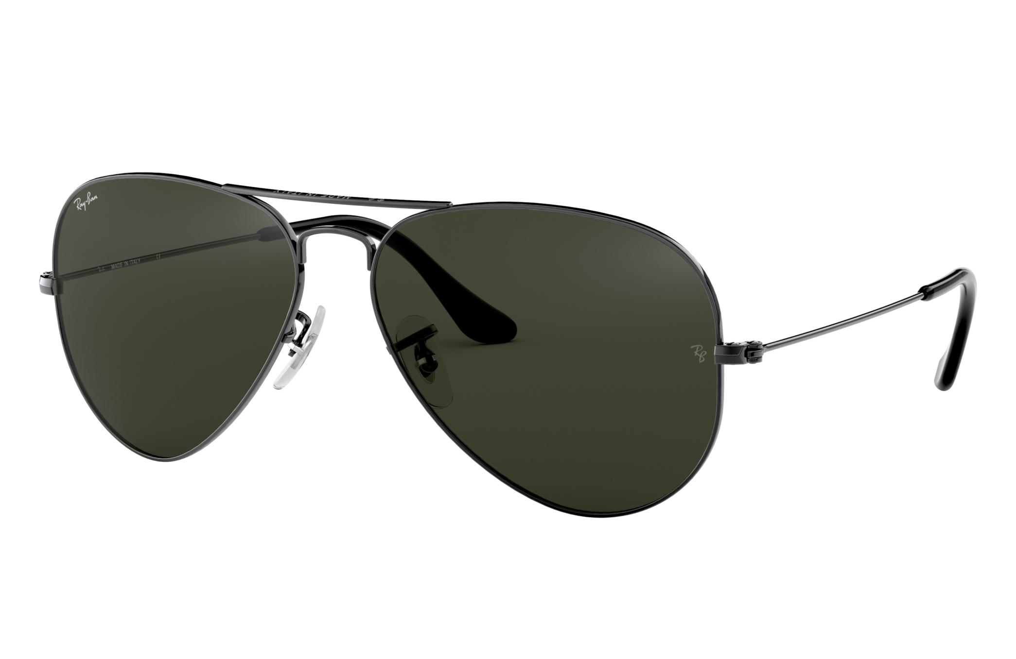 Ray-Ban Aviator Classic Gunmetal, Green Lenses - RB3025