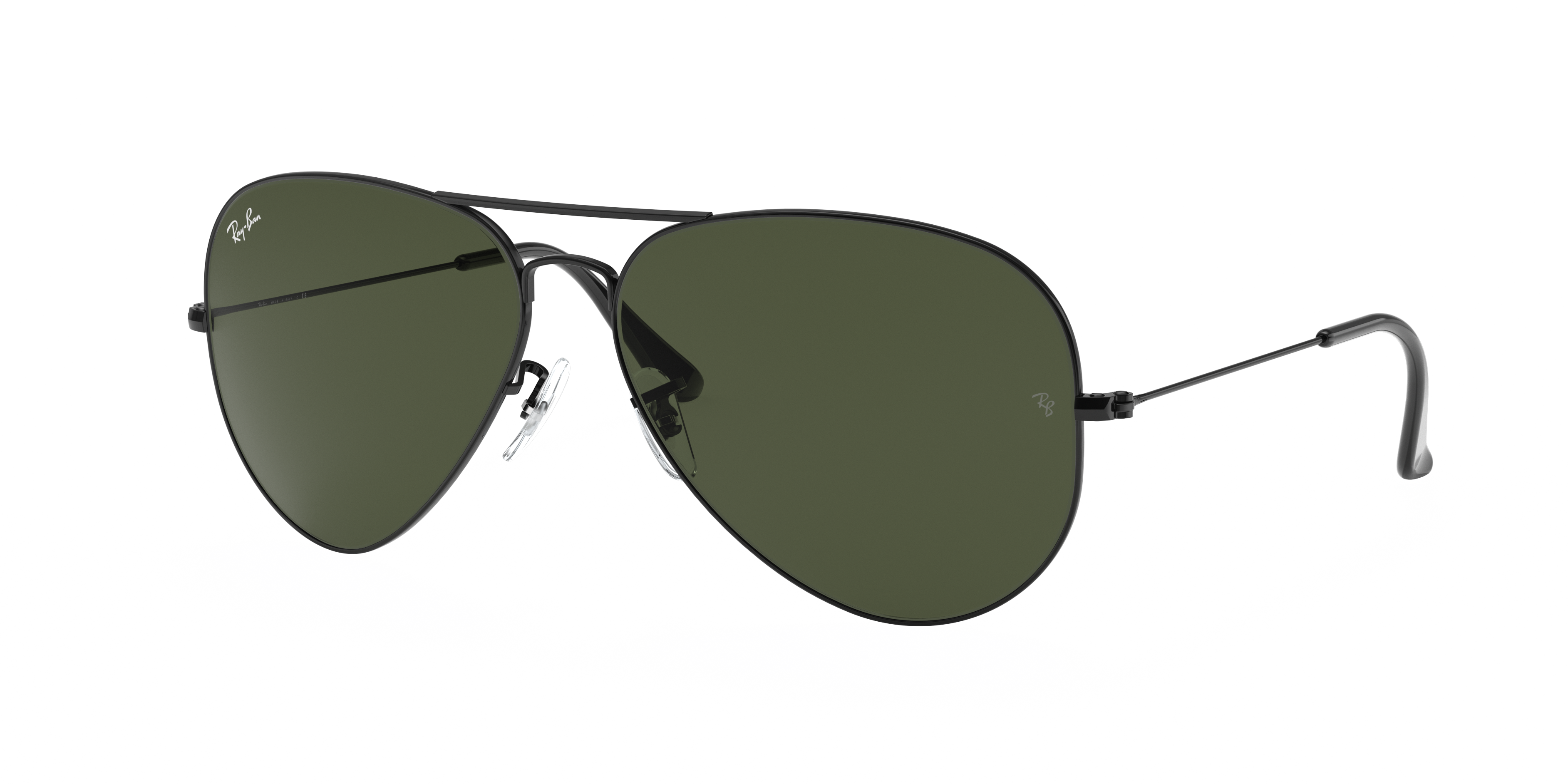 Ray-Ban Aviator Classic Black, Green Lenses - RB3026