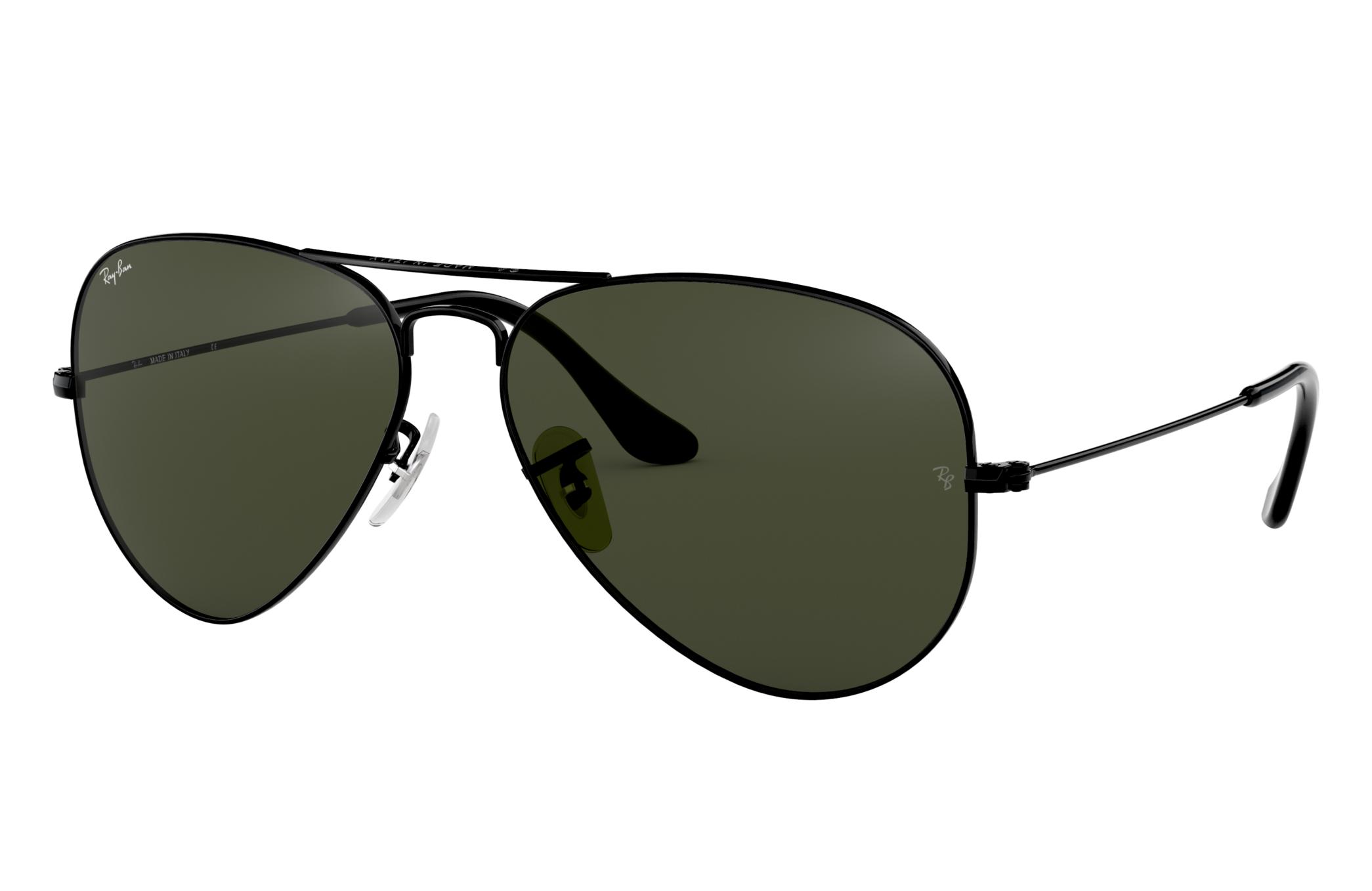 Ray-Ban Aviator Classic Black, Green Lenses - RB3025