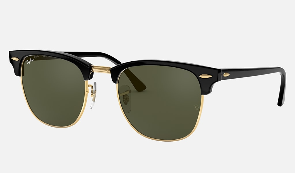 Ray-Ban Clubmaster Classic RB3016 Black - Acetate - Green Lenses -  0RB3016W036549   Ray-Ban® UK