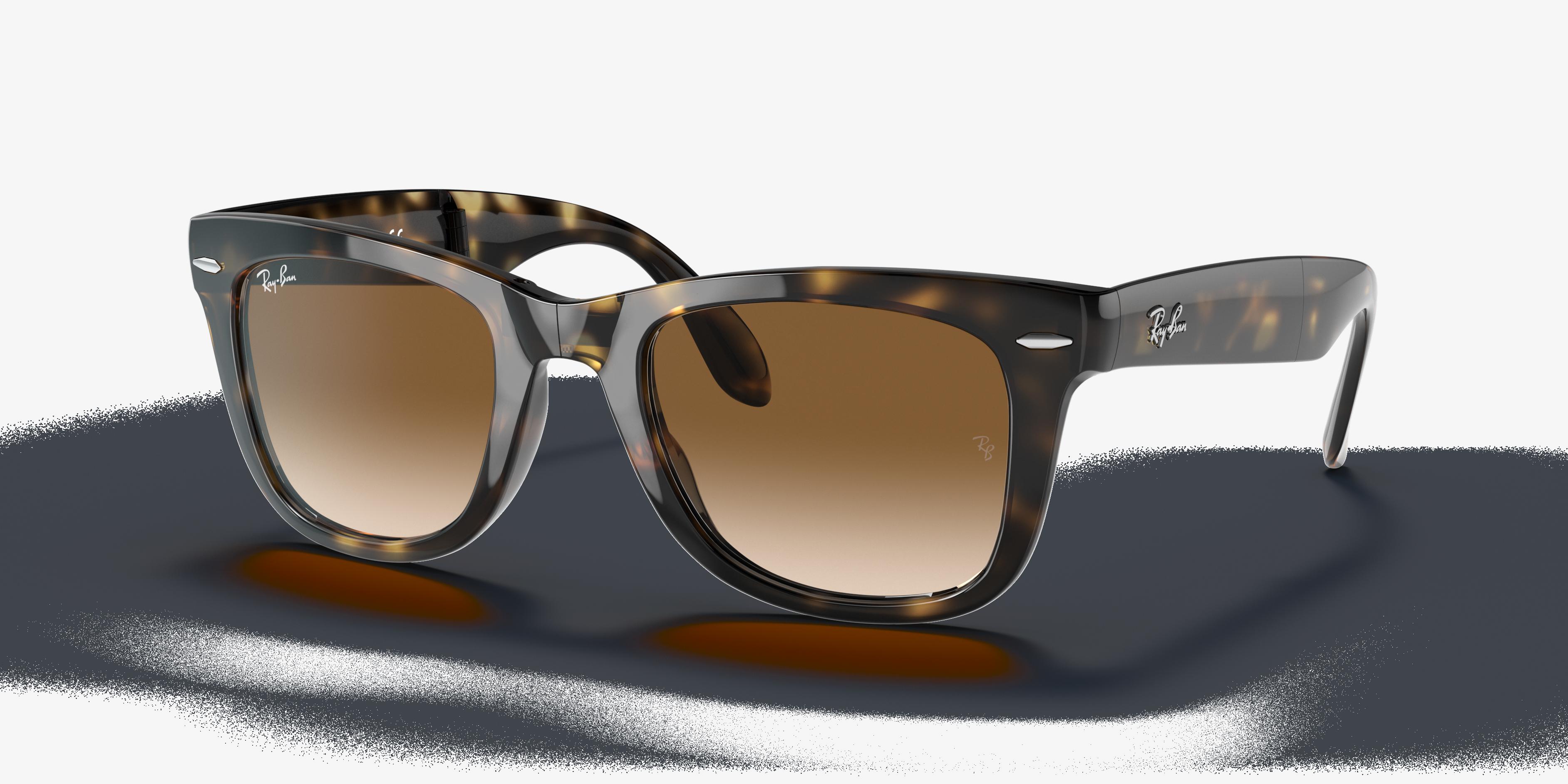 Ray-Ban Wayfarer Folding Classic Tortoise, Brown Lenses - RB4105
