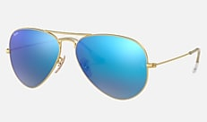 Ray-Ban RB3025 112/17 58-14 AVIATOR FLASH LENSES ゴールド Aviator