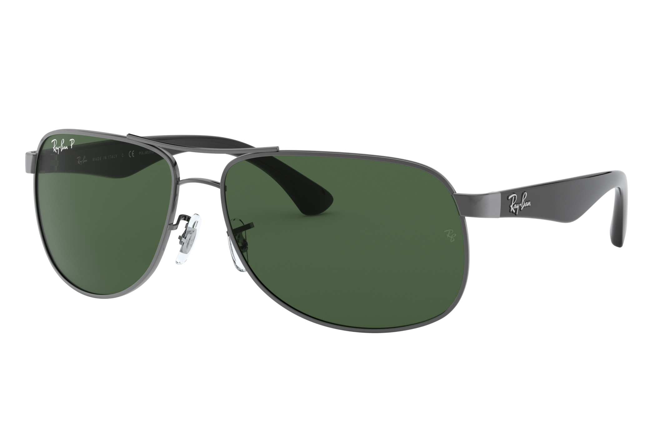 Ray-Ban Rb3502 Black, Polarized Green Lenses - RB3502