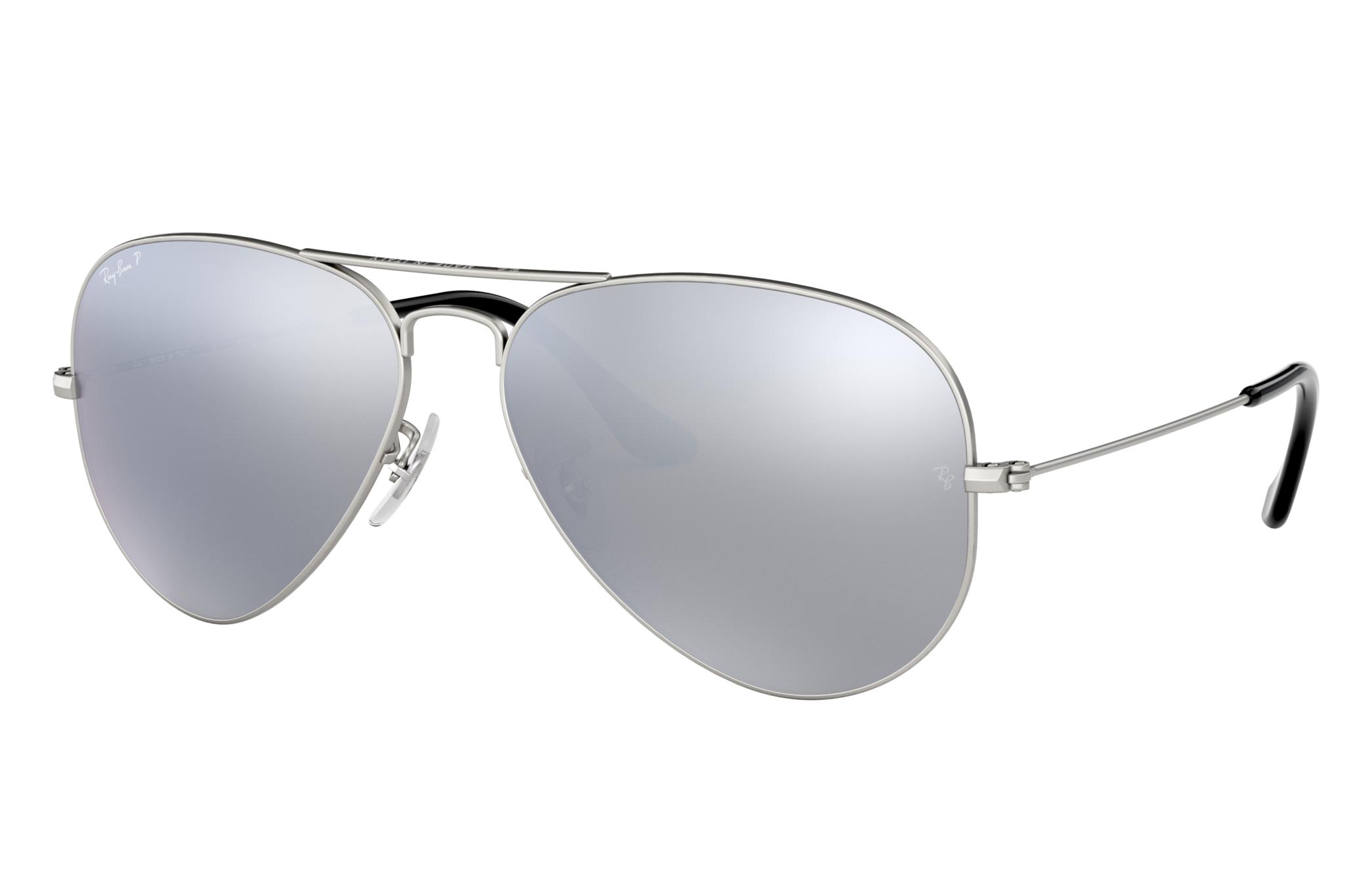 Ray-Ban Aviator Mirror Silver, Polarized Gray Lenses - RB3025
