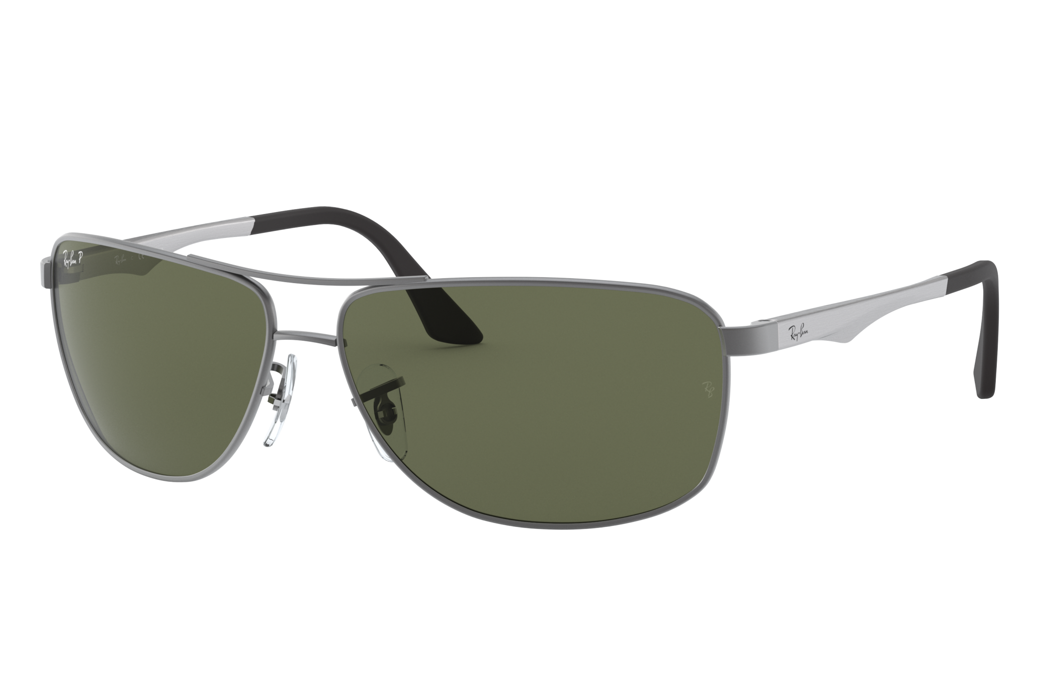 Ray-Ban Rb3506 Silver, Polarized Green Lenses - RB3506