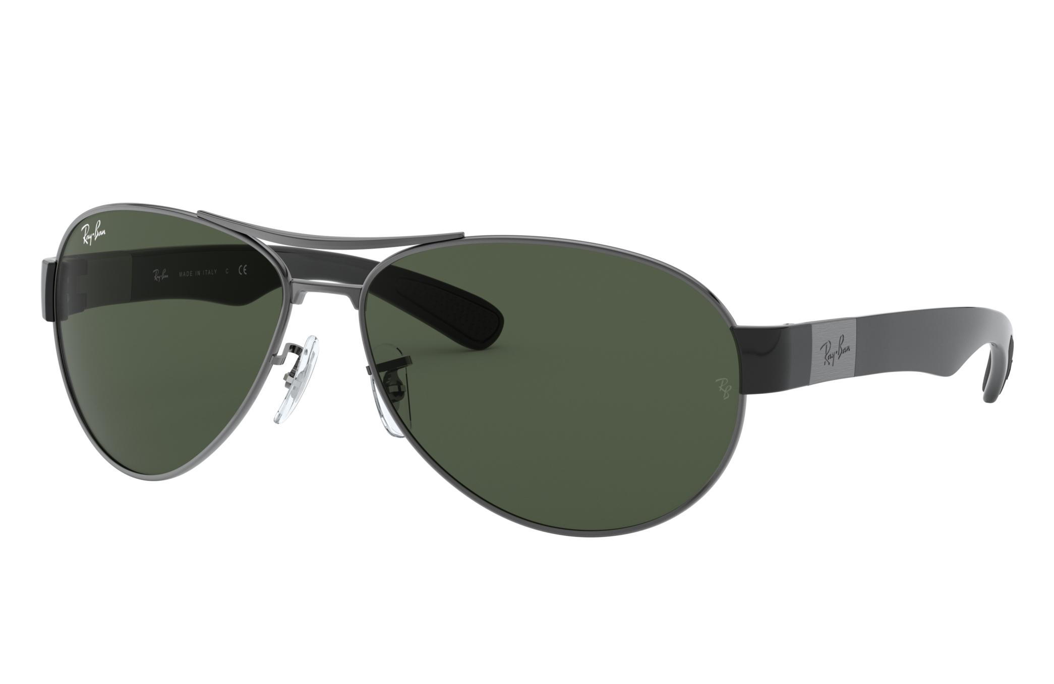 Ray-Ban Rb3509 Black, Green Lenses - RB3509