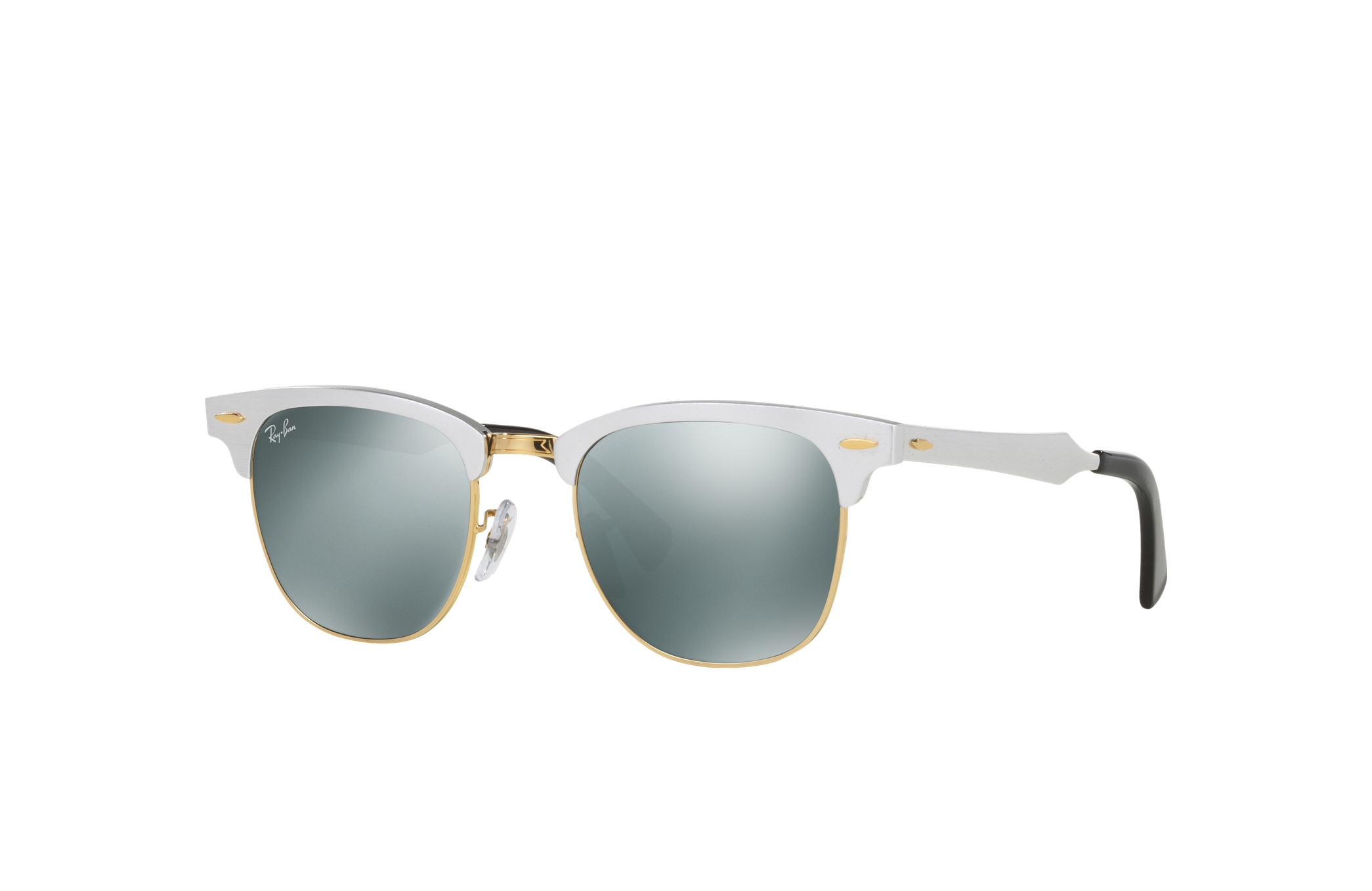 Ray-Ban Clubmaster Aluminum Silver, Gray Lenses - RB3507