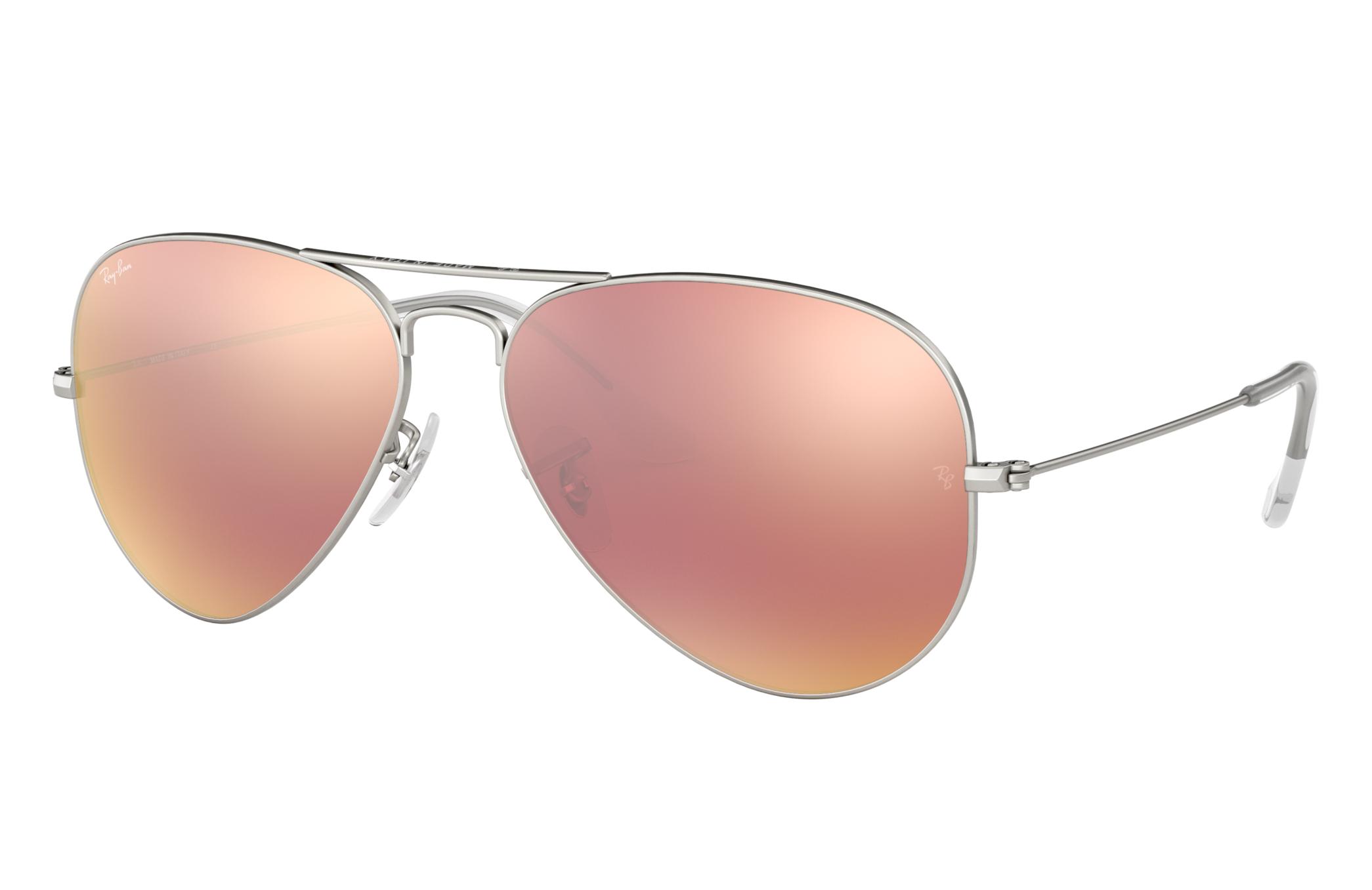 Ray-Ban Aviator Flash Lenses Silver, Pink Lenses - RB3025