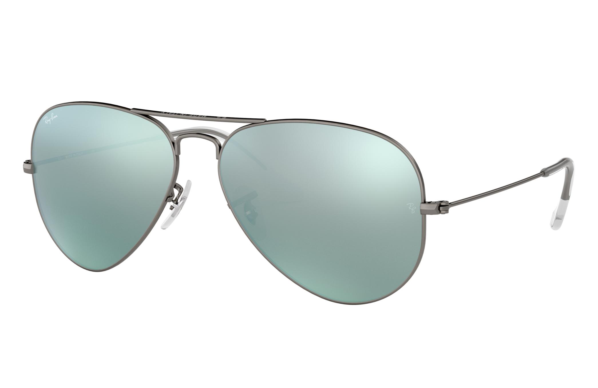 Ray-Ban Aviator Flash Lenses Gunmetal, Gray Lenses - RB3025