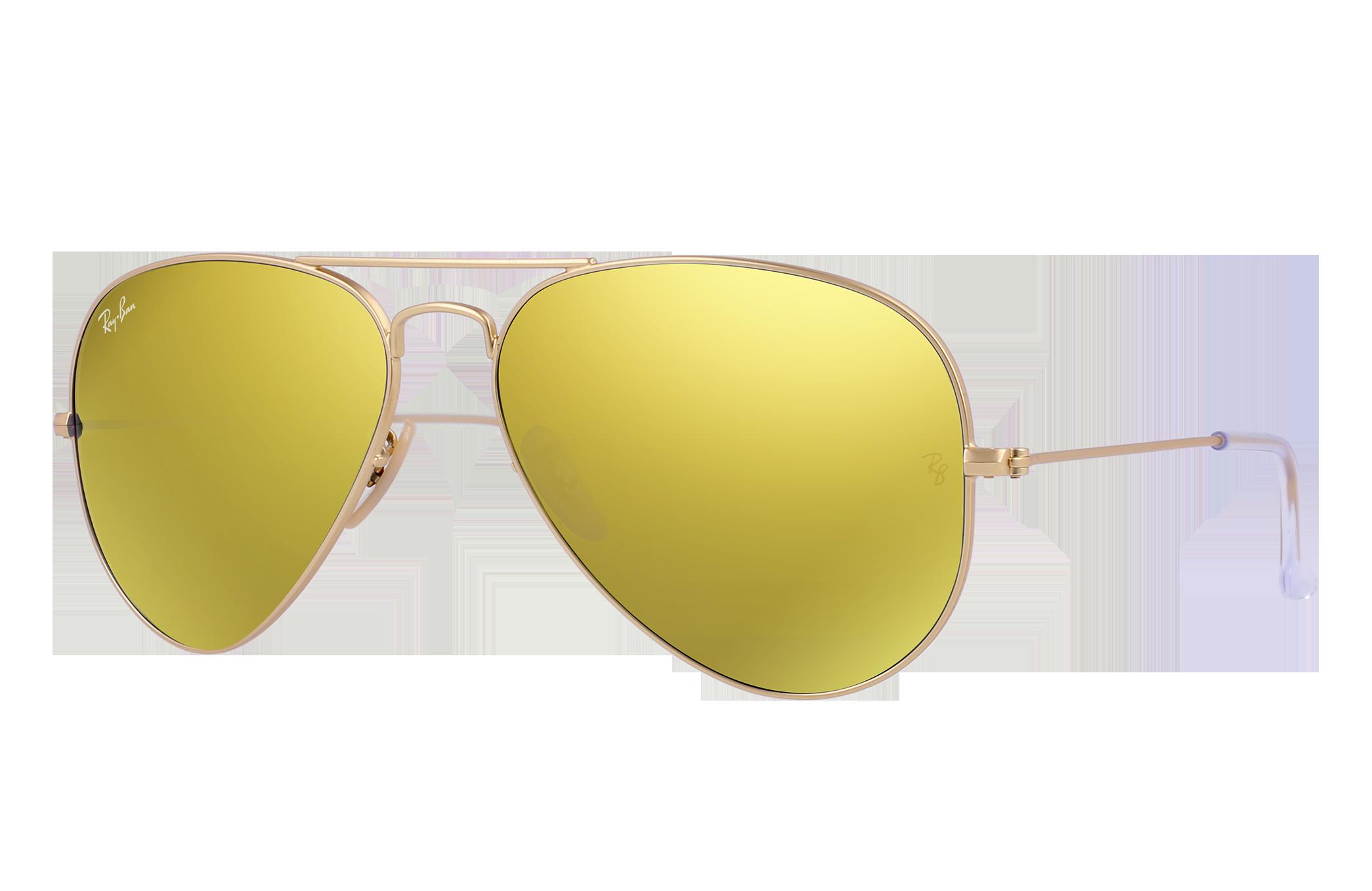 Ray-Ban Aviator Flash Lenses Gold, Yellow Lenses - RB3025