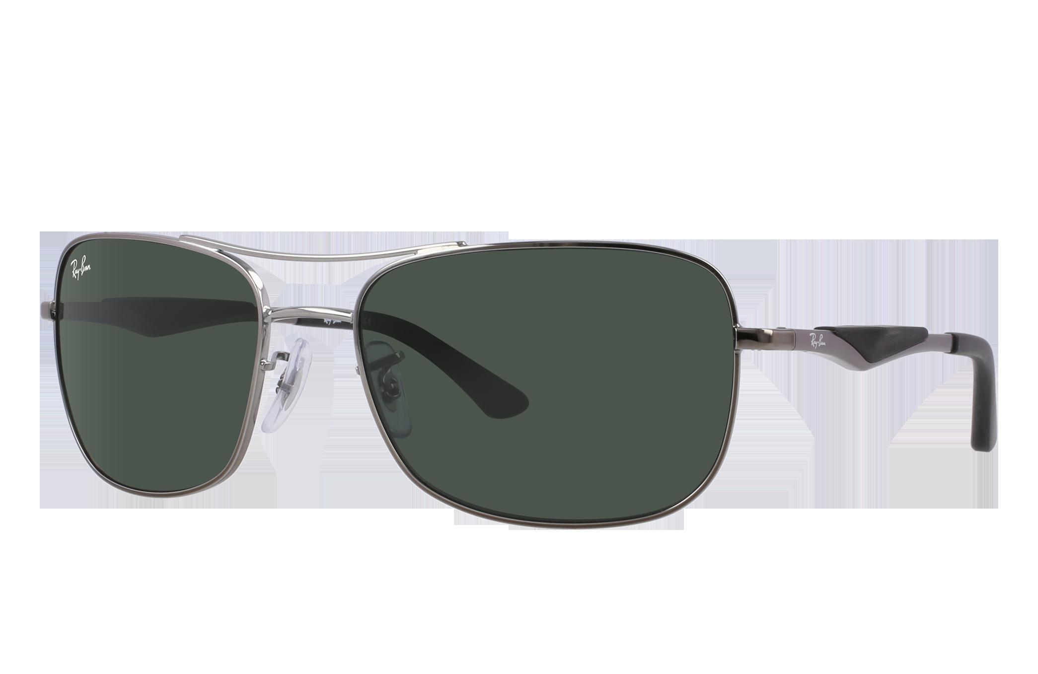 Ray-Ban Rb3515 Gunmetal, Green Lenses - RB3515