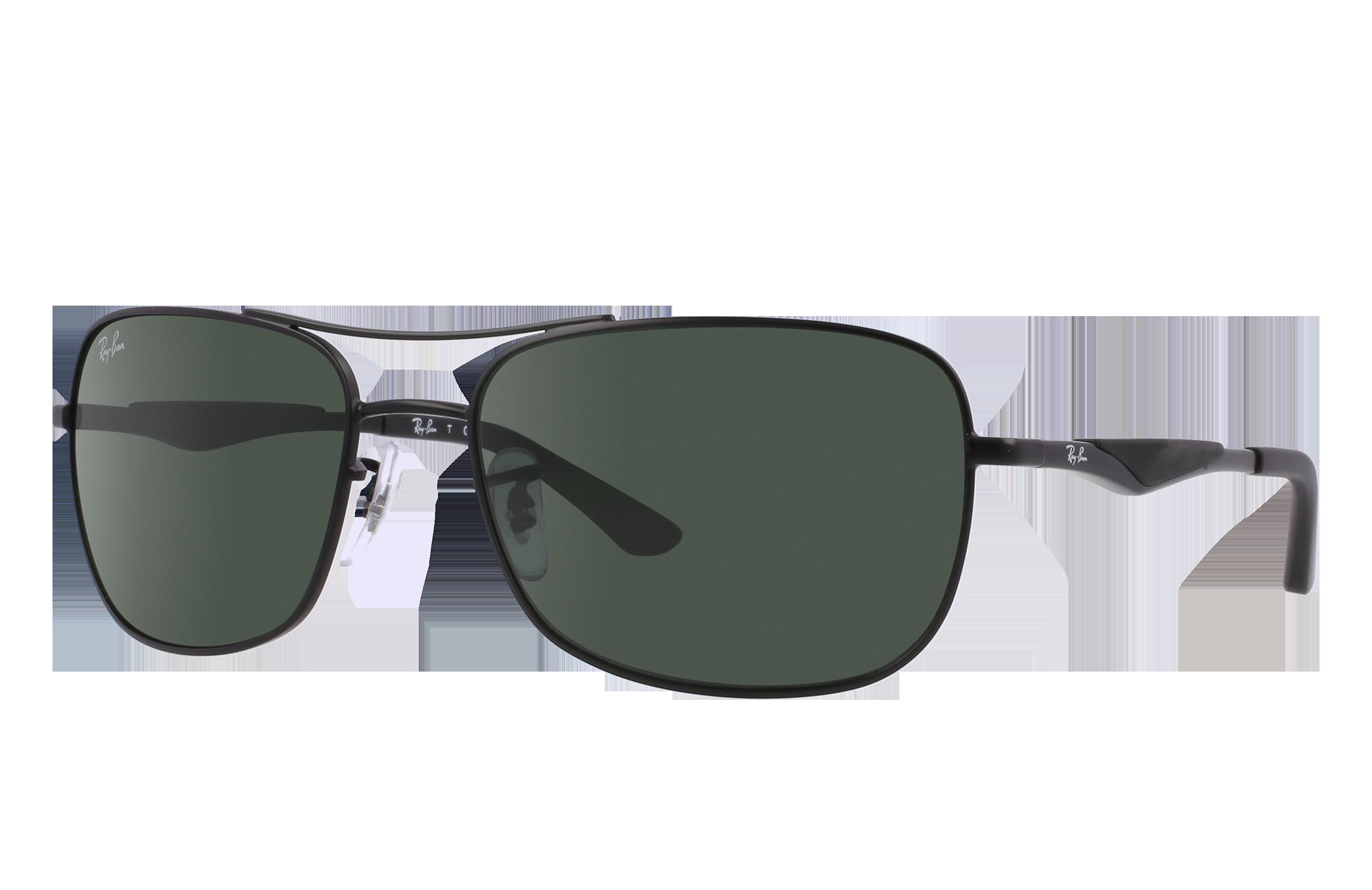 Ray-Ban Rb3515 Black, Green Lenses - RB3515