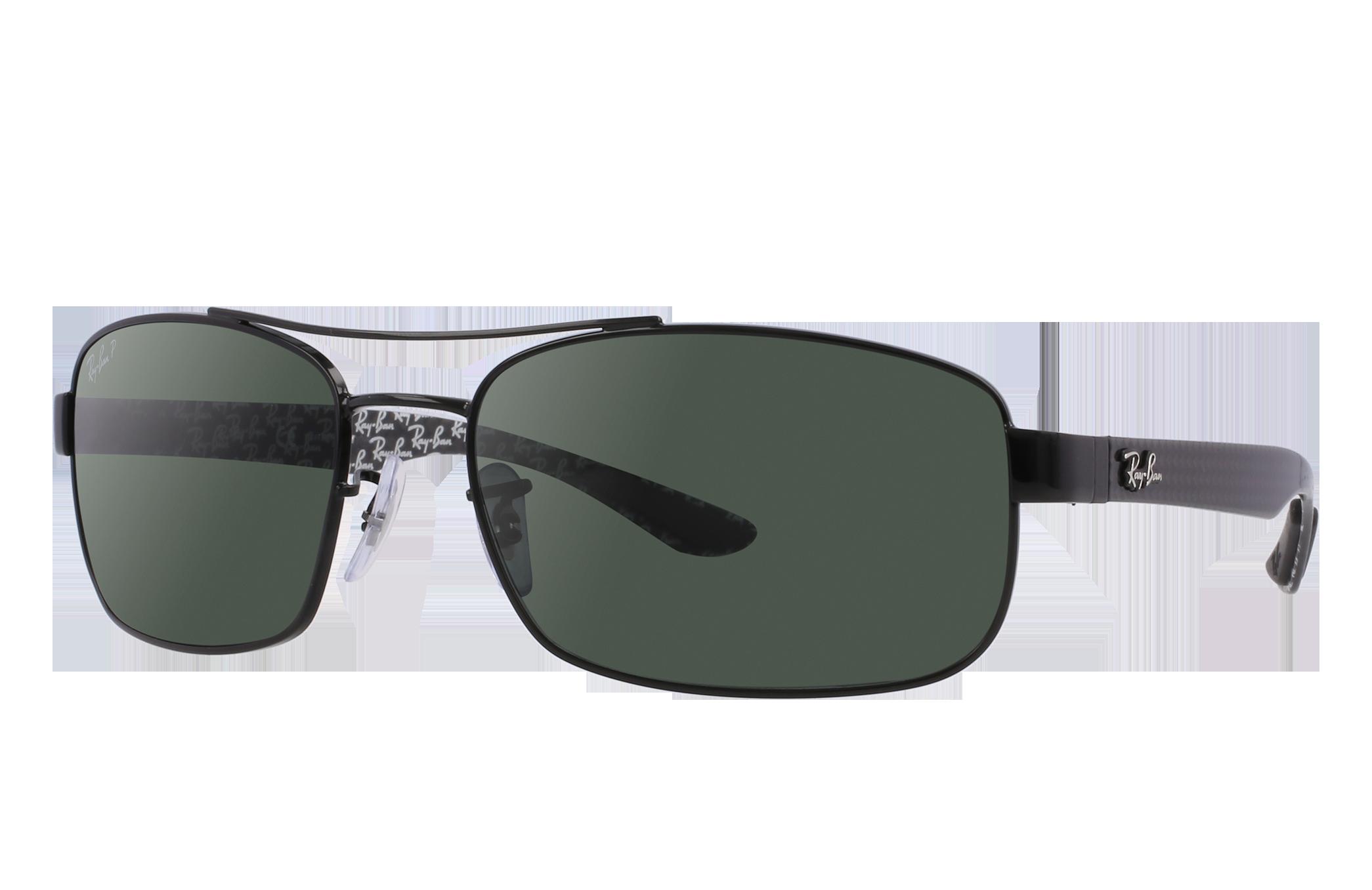 Ray-Ban Rb8316 Black, Polarized Green Lenses - RB8316